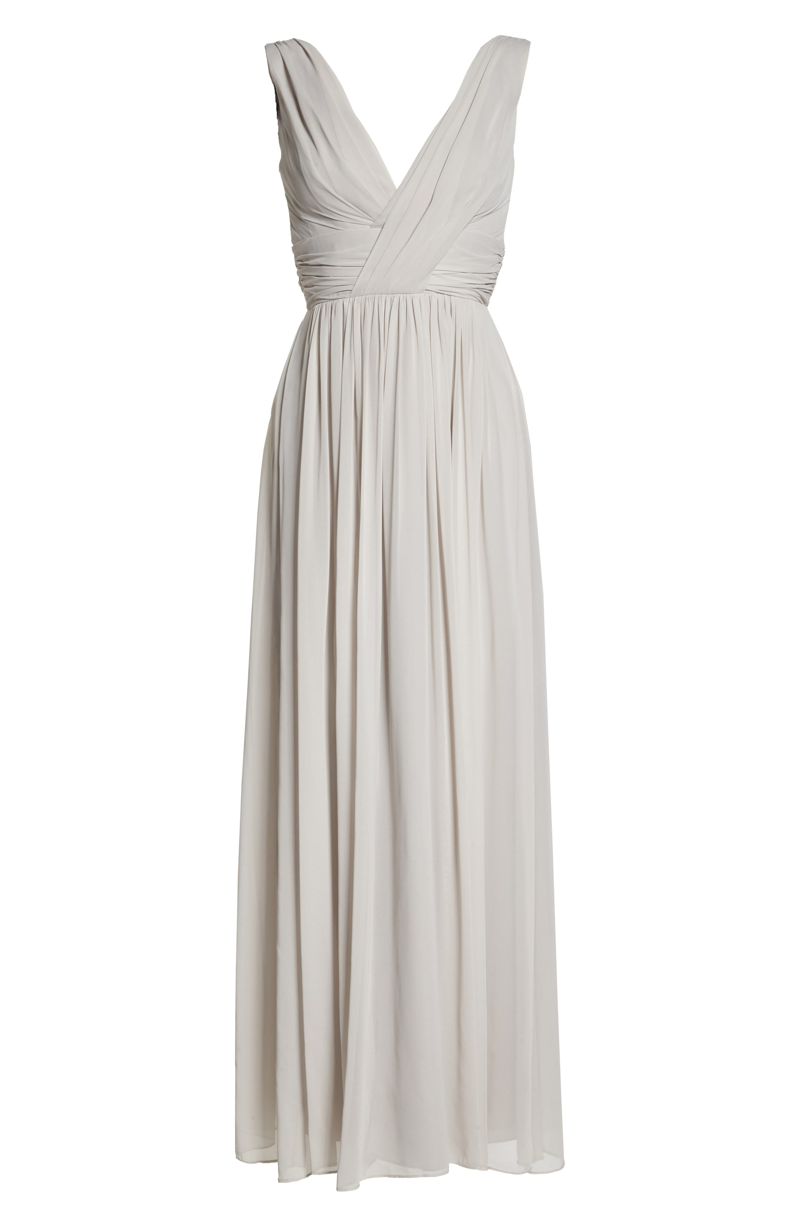 Dessy Collection Surplice Ruched Chiffon Gown, 8 (similar to 1) - Ivory