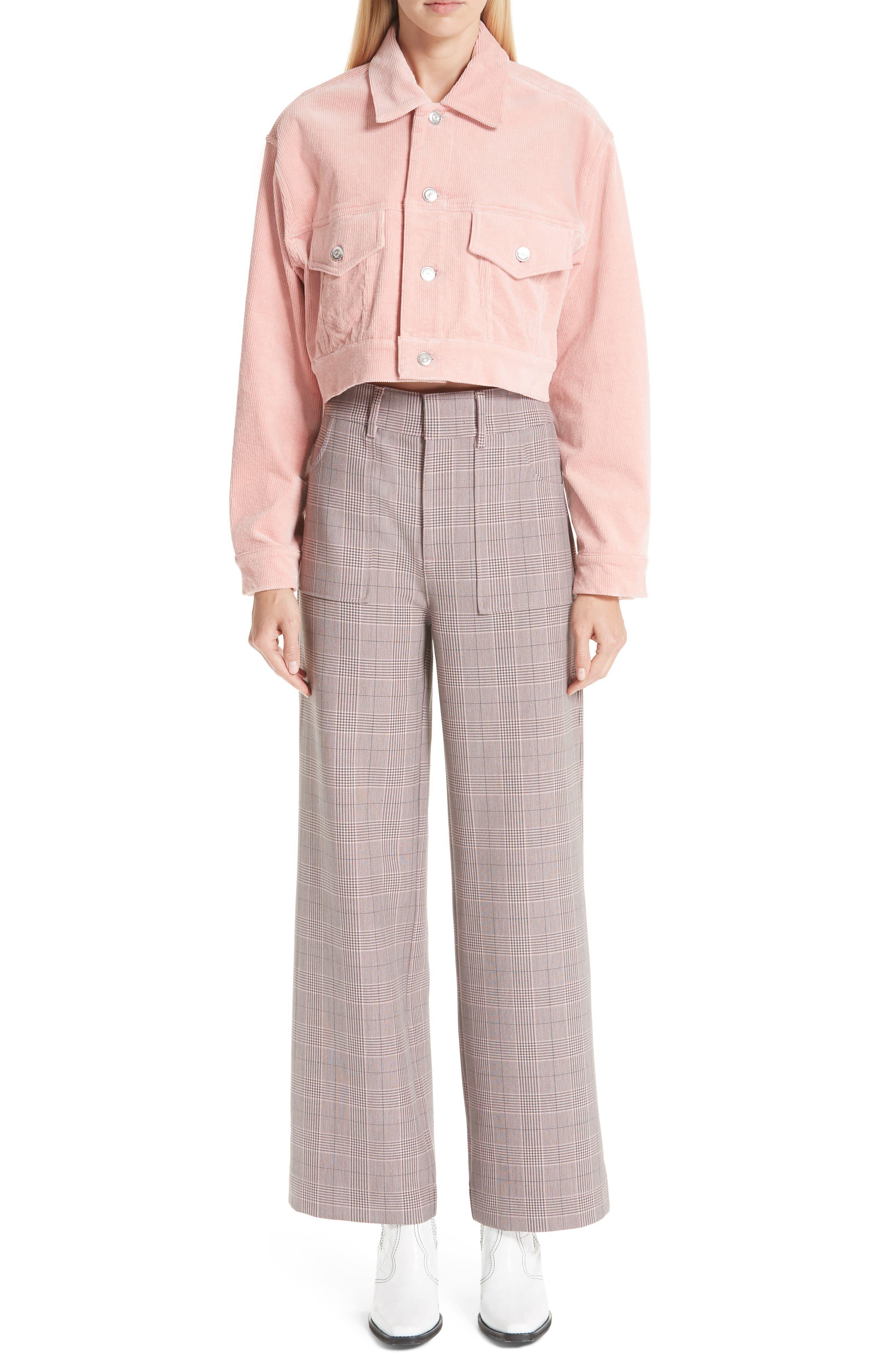 Stretch Corduroy Jacket,                             Alternate thumbnail 7, color,                             SILVER PINK 499