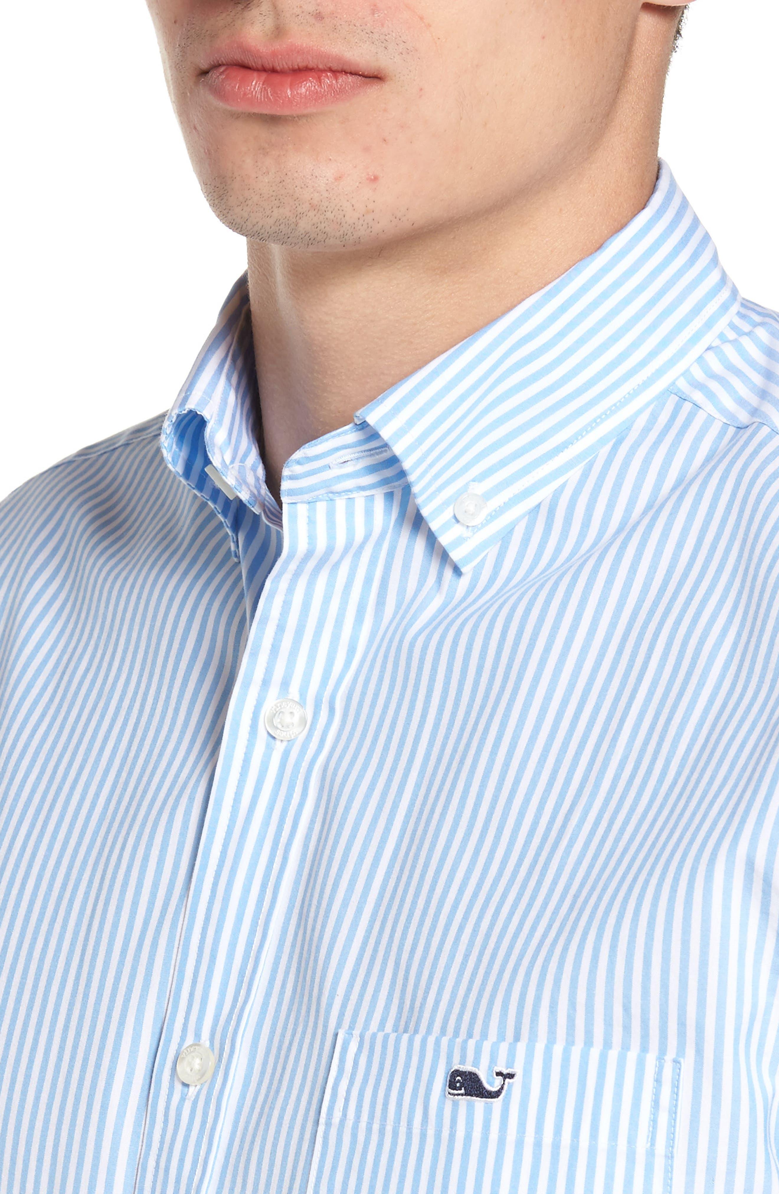 Swordfish Stripe Tucker Sport Shirt,                             Alternate thumbnail 4, color,