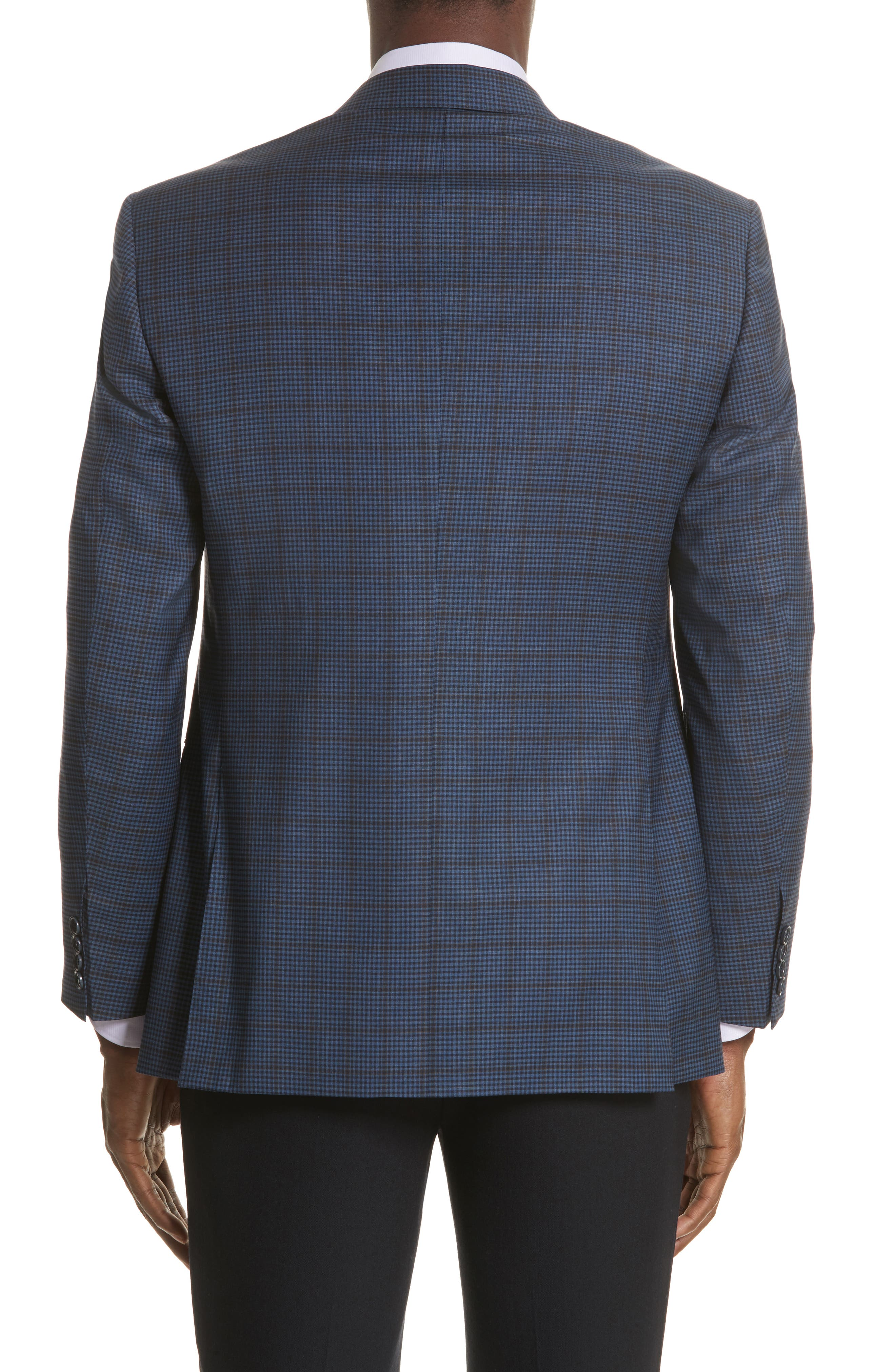 Classic Fit Check Wool Sport Coat,                             Alternate thumbnail 2, color,                             410