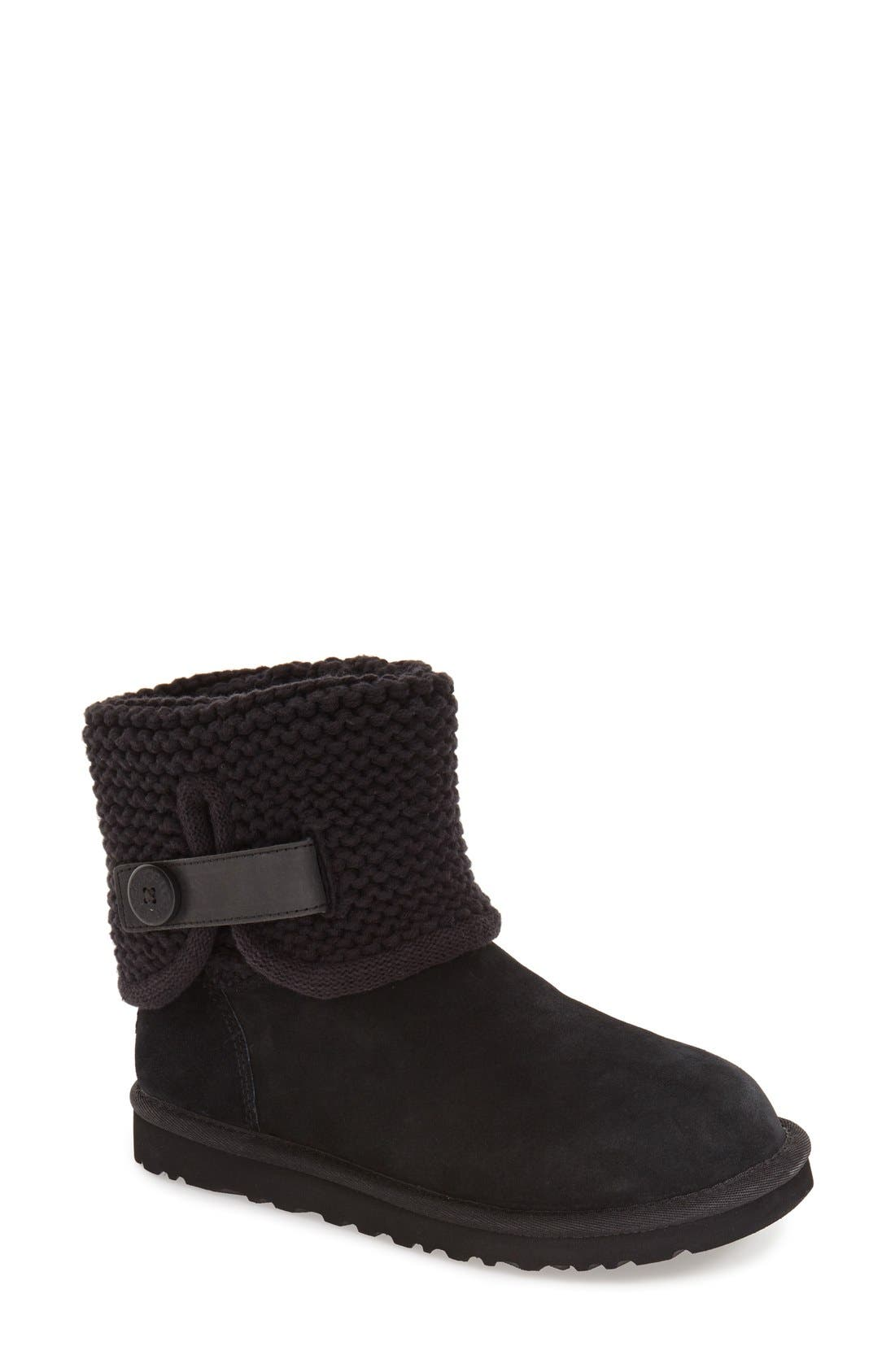 Shaina Knit Cuff Bootie,                             Main thumbnail 2, color,