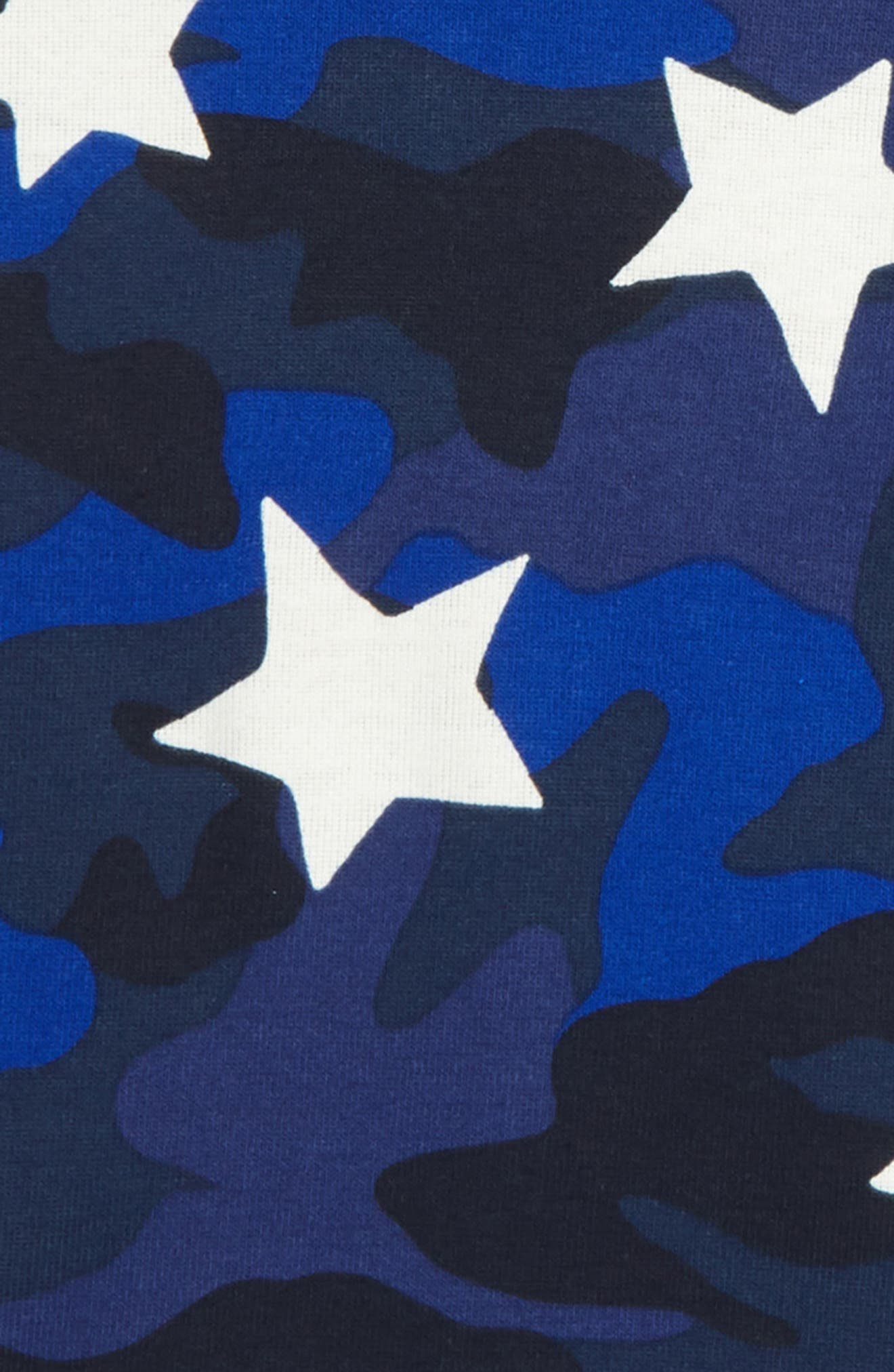Glow-in-the-Dark Fitted Two-Piece Pajamas,                             Alternate thumbnail 2, color,                             NAVY CAMOUFLAGE STAR