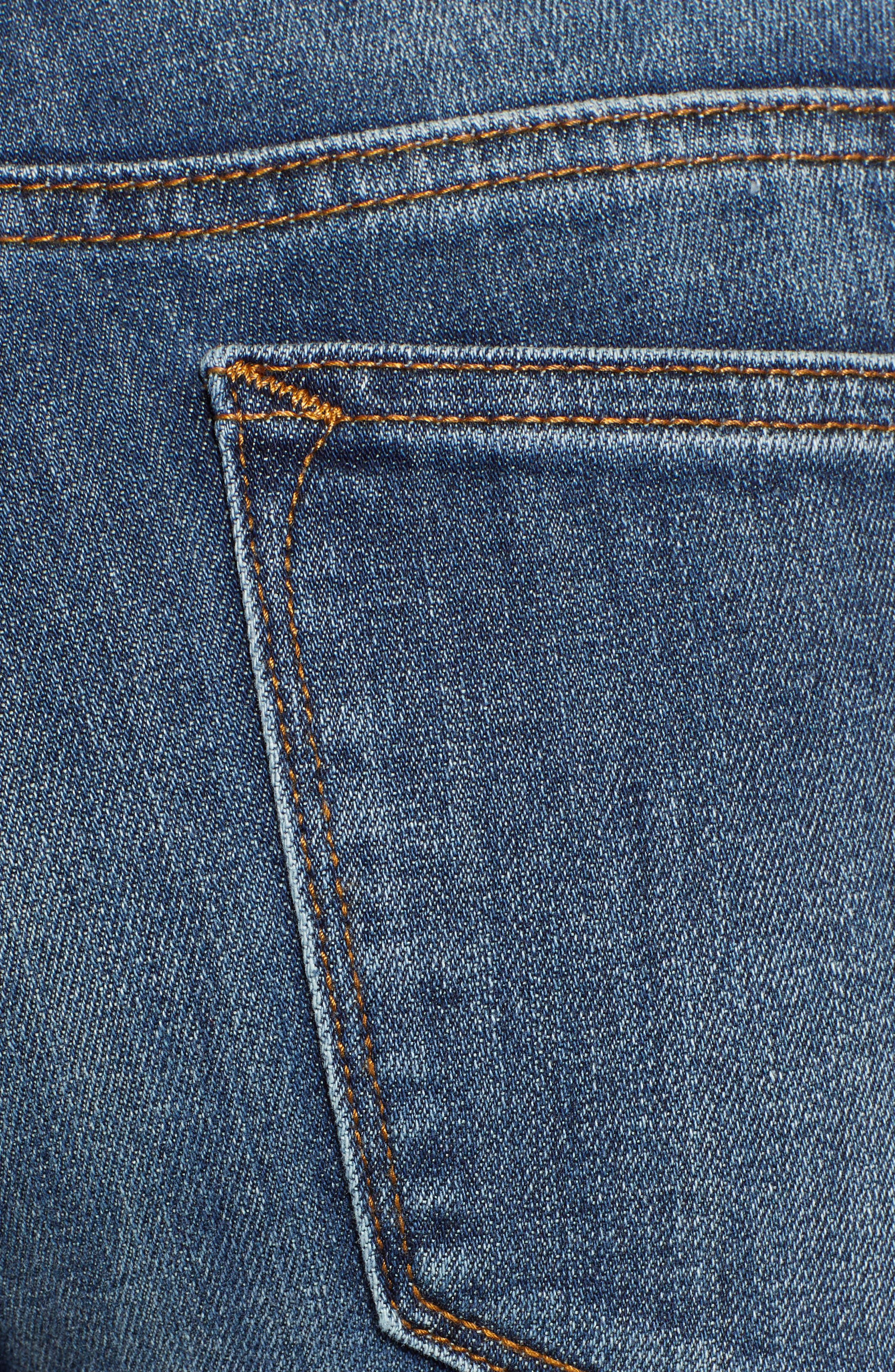 Jagger High Waist Bootcut Jeans,                             Alternate thumbnail 6, color,                             DARK WASH