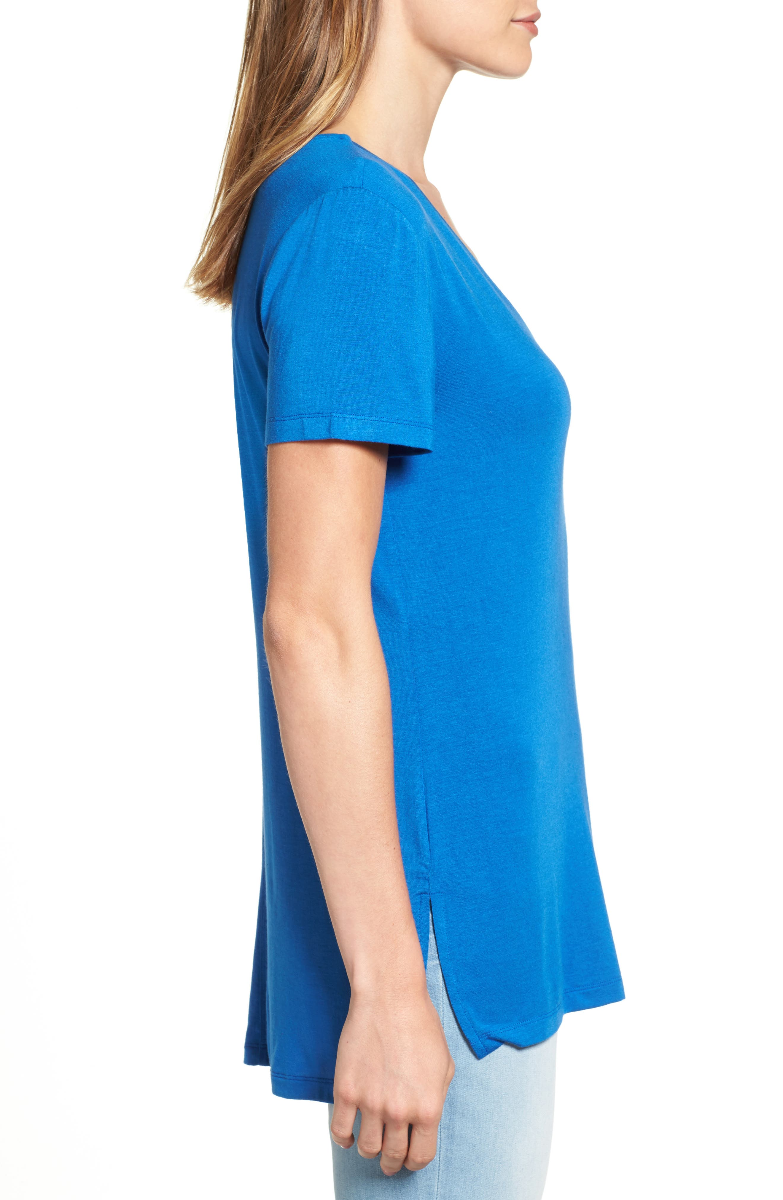 V-Neck Tunic Tee,                             Alternate thumbnail 34, color,