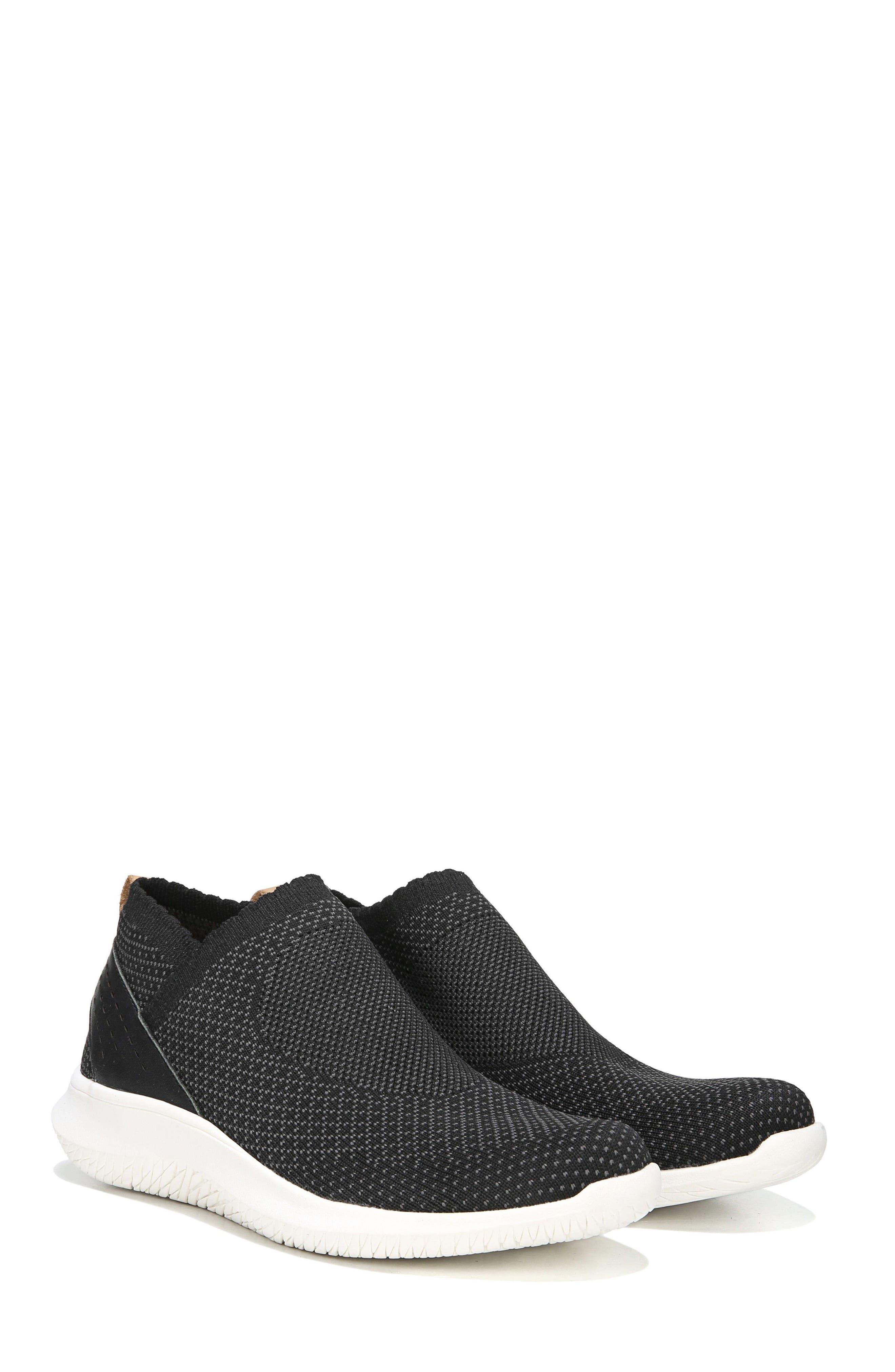 Fierce Knit Slip-On Sneaker,                             Alternate thumbnail 7, color,                             BLACK KNIT FABRIC
