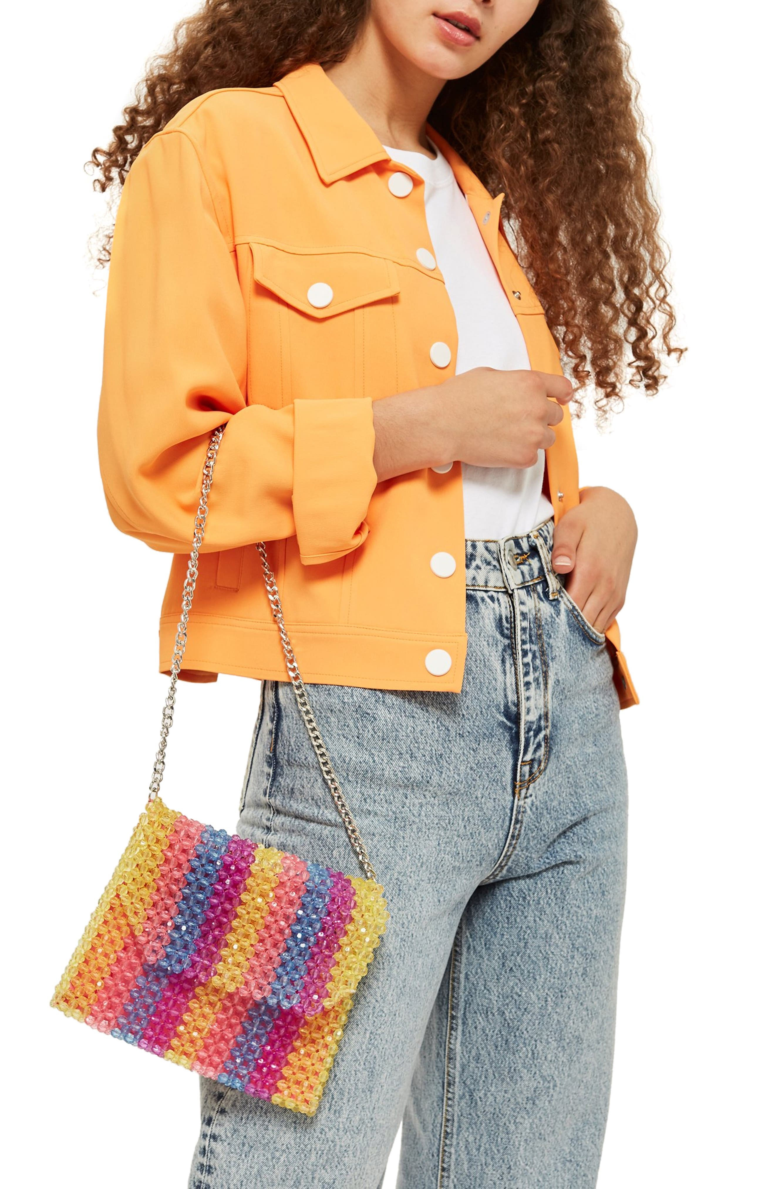 Zizi Beaded Shoulder Bag,                             Alternate thumbnail 2, color,                             YELLOW MULTI