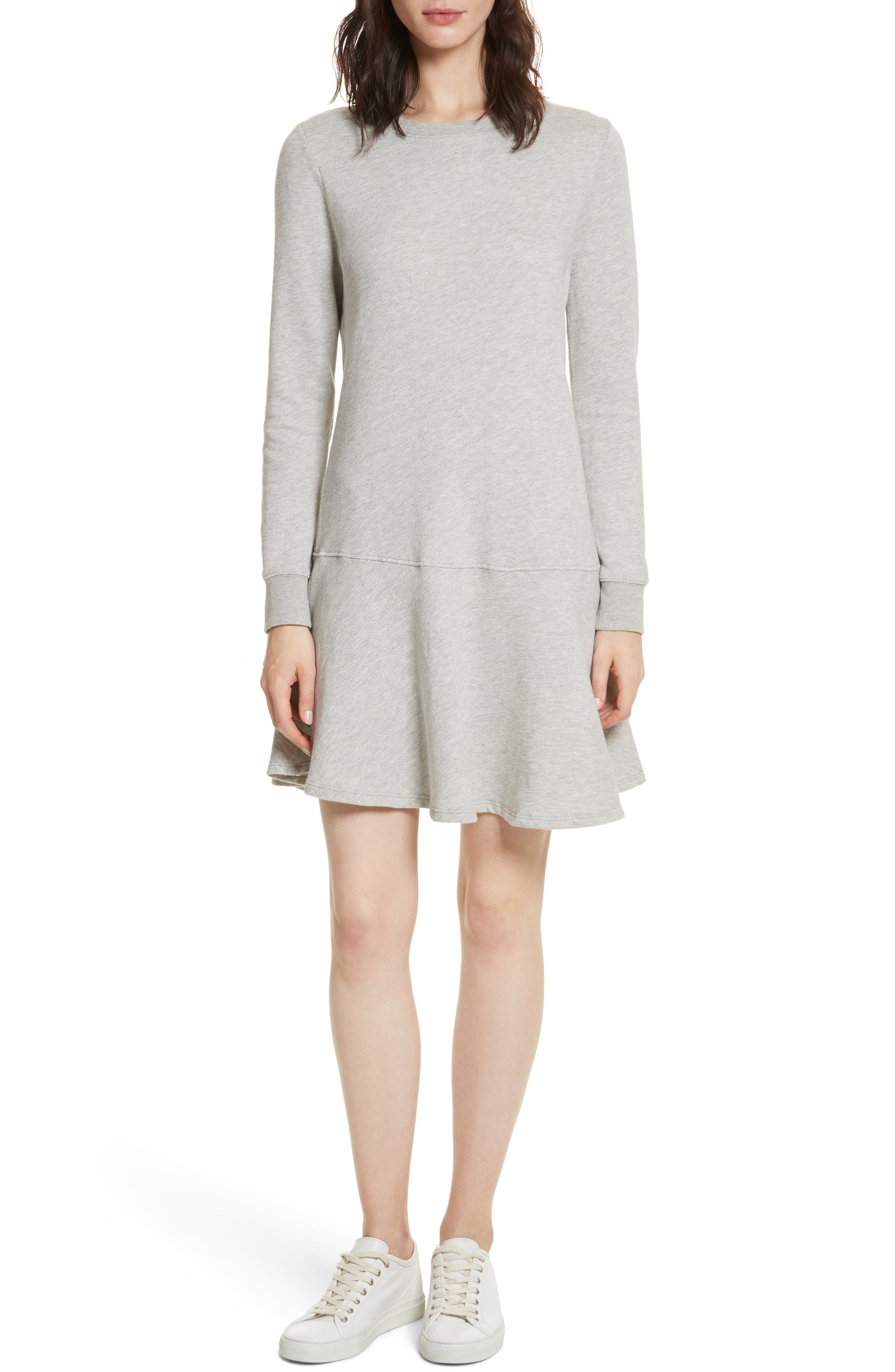 Runna French Terry A-Line Dress,                             Alternate thumbnail 5, color,                             033