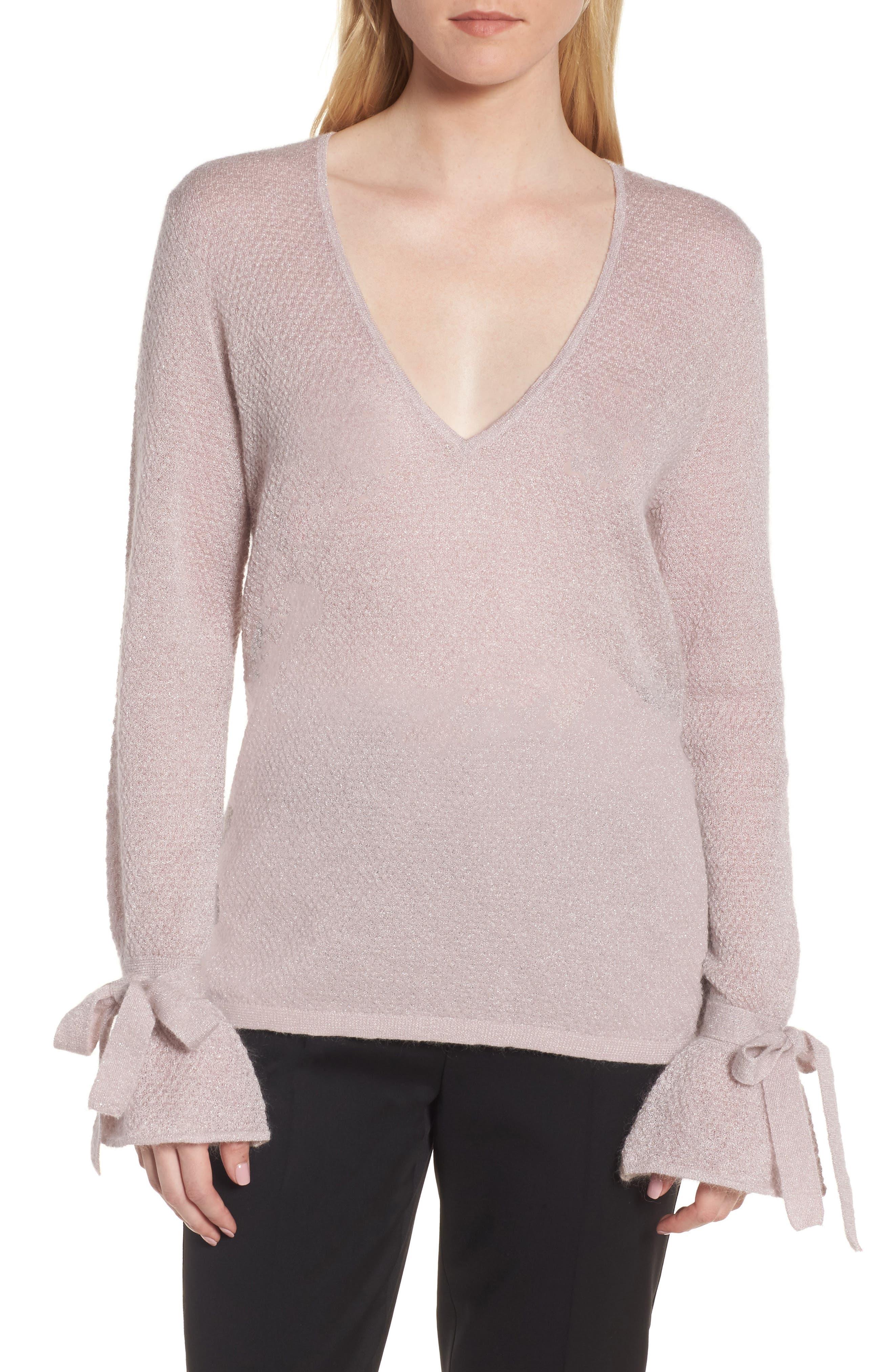 Metallic Mohair Blend Sweater,                             Main thumbnail 1, color,