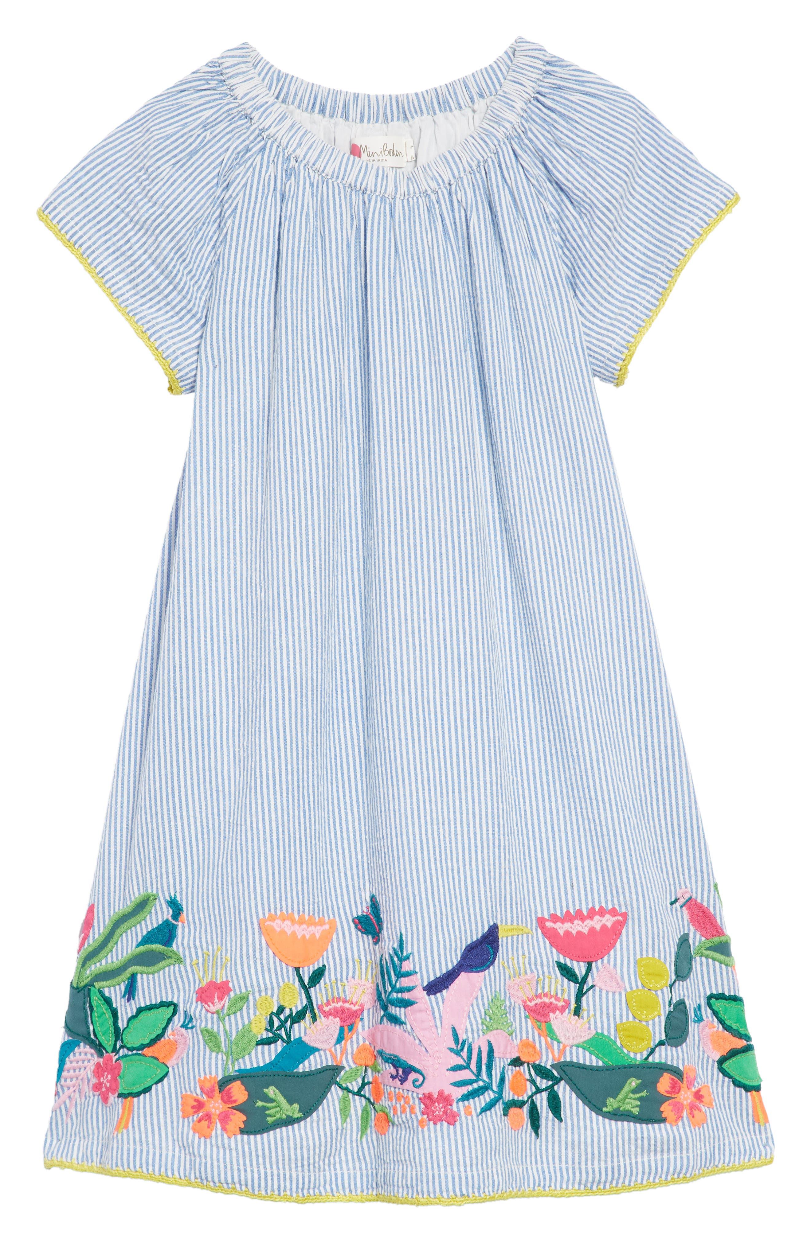 Embroidered Hem Dress,                         Main,                         color,