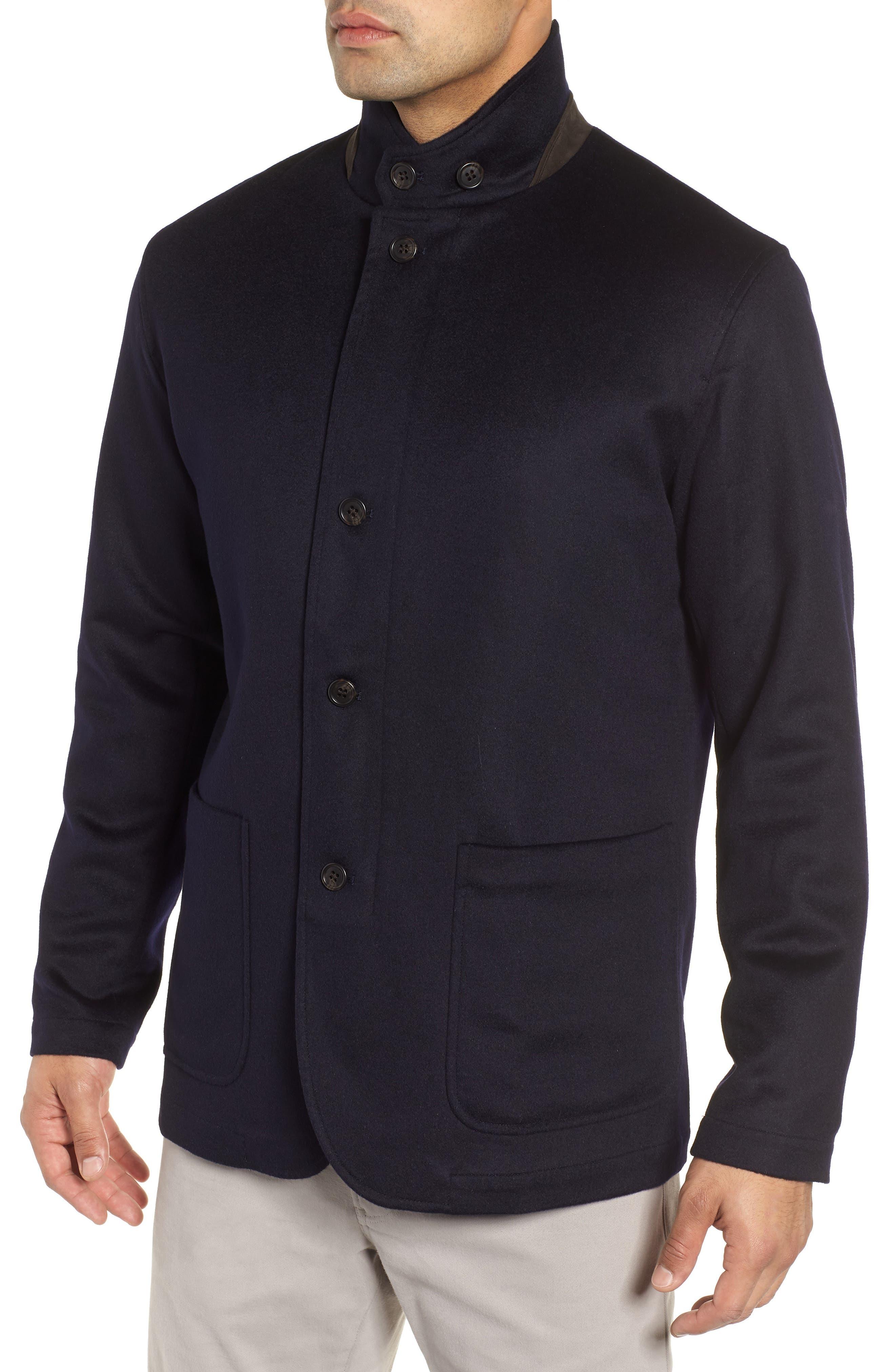 Wade Crown Fleece Jacket,                             Alternate thumbnail 4, color,                             ARCTIC NIGHT