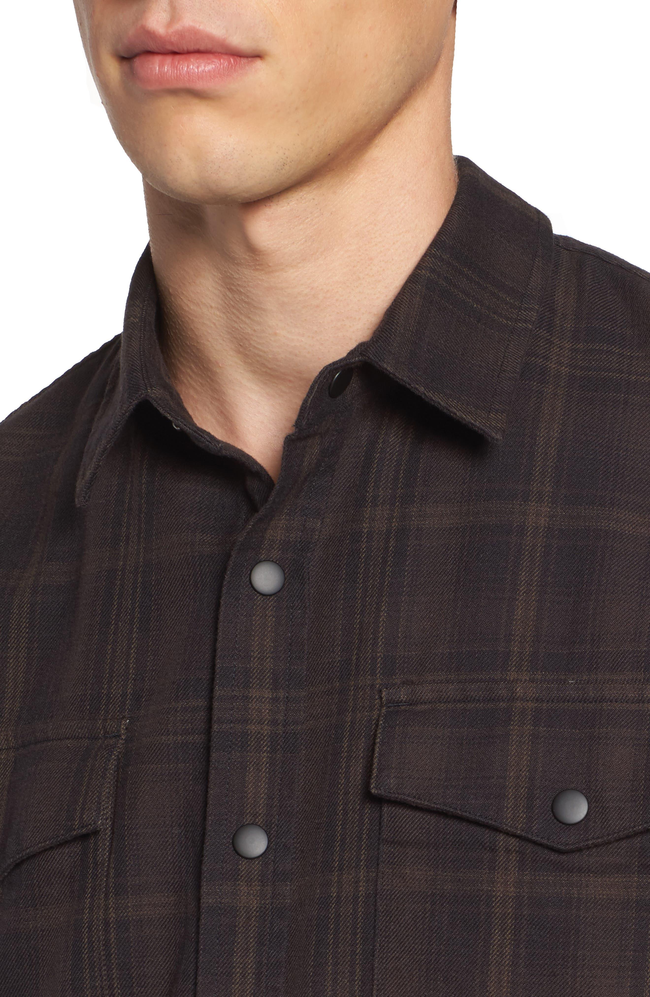 Boone Slim Plaid Overshirt,                             Alternate thumbnail 4, color,                             200