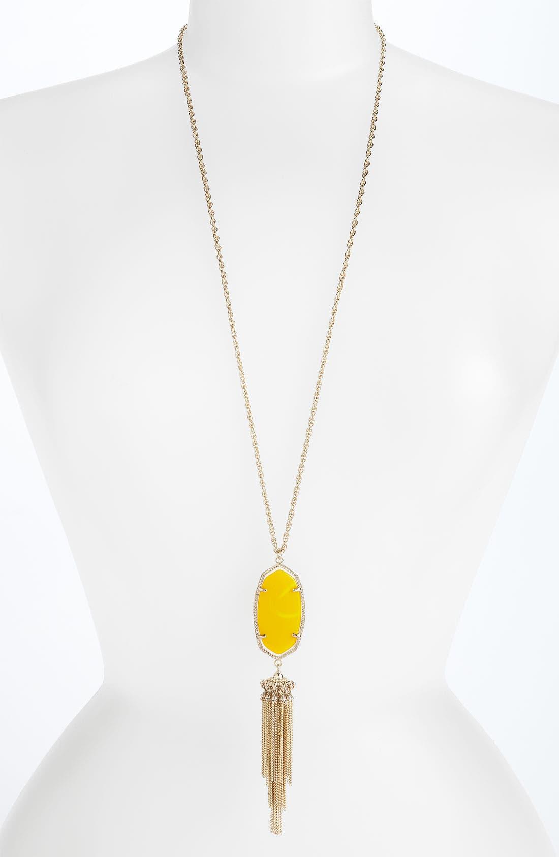 Rayne Stone Tassel Pendant Necklace,                             Main thumbnail 67, color,