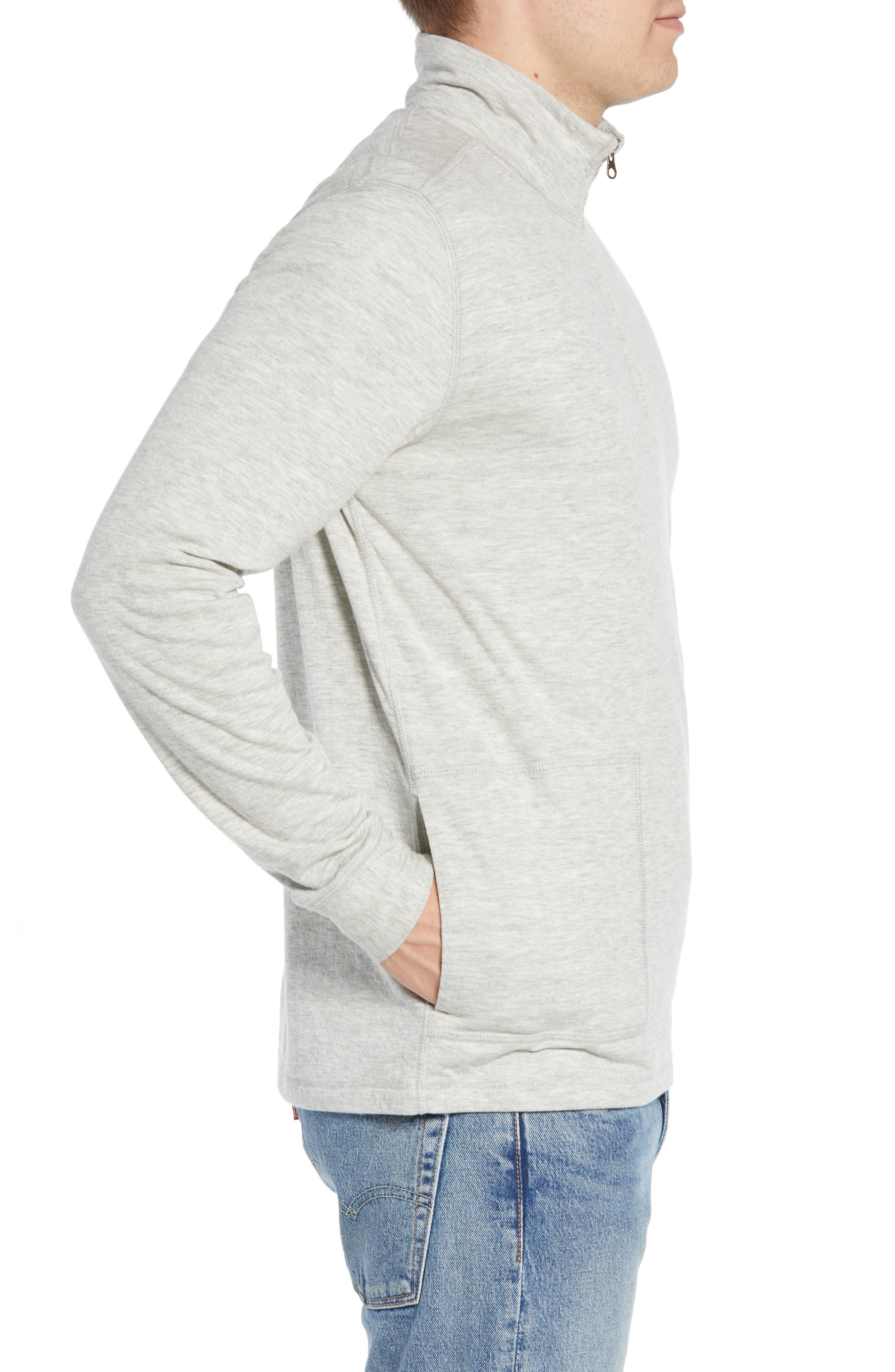 Charles Regular Fit Half Zip Sweater,                             Alternate thumbnail 3, color,                             074
