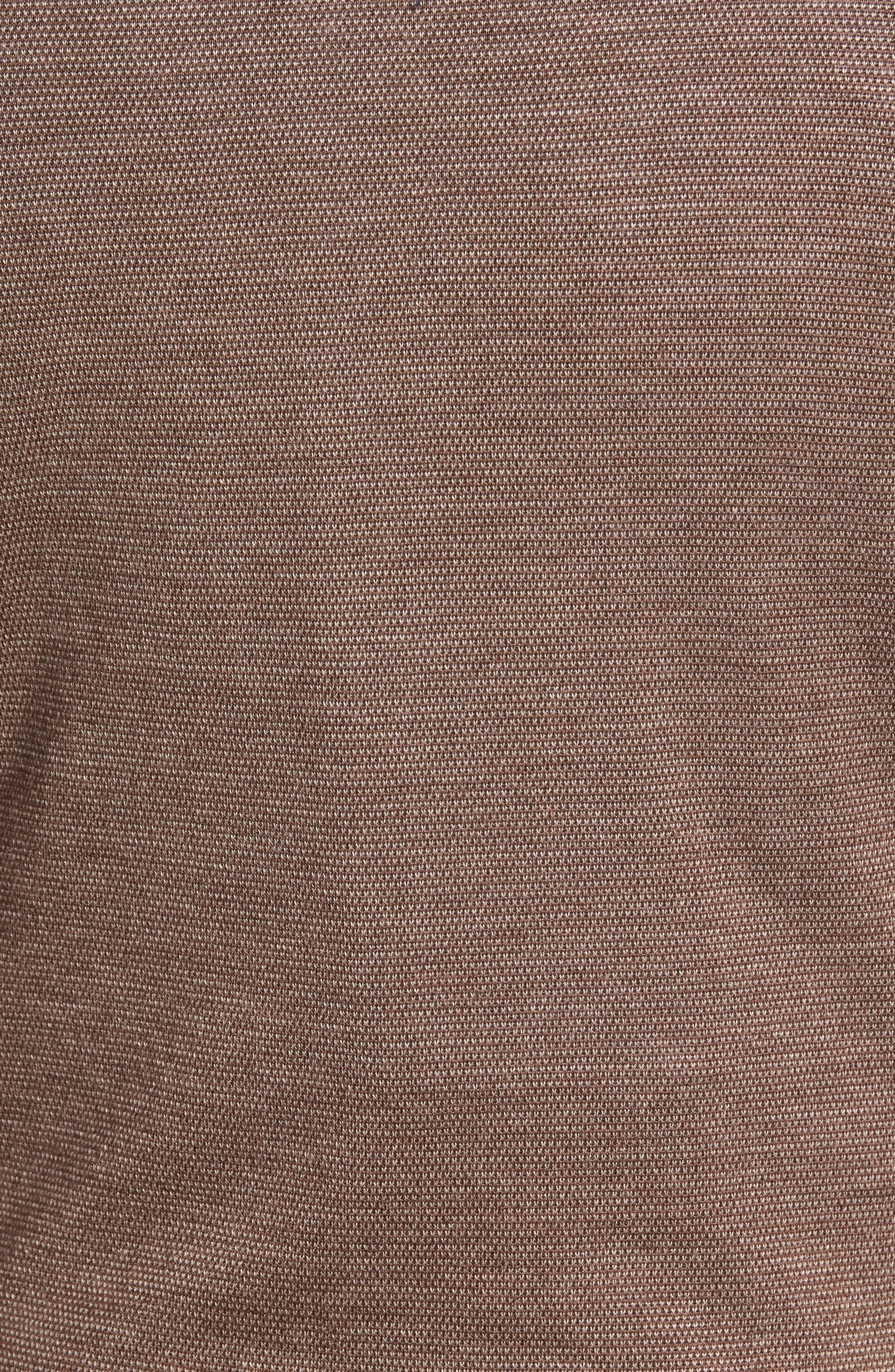 Merino Blend Bird's Eye Quarter Zip Pullover,                             Alternate thumbnail 5, color,                             218