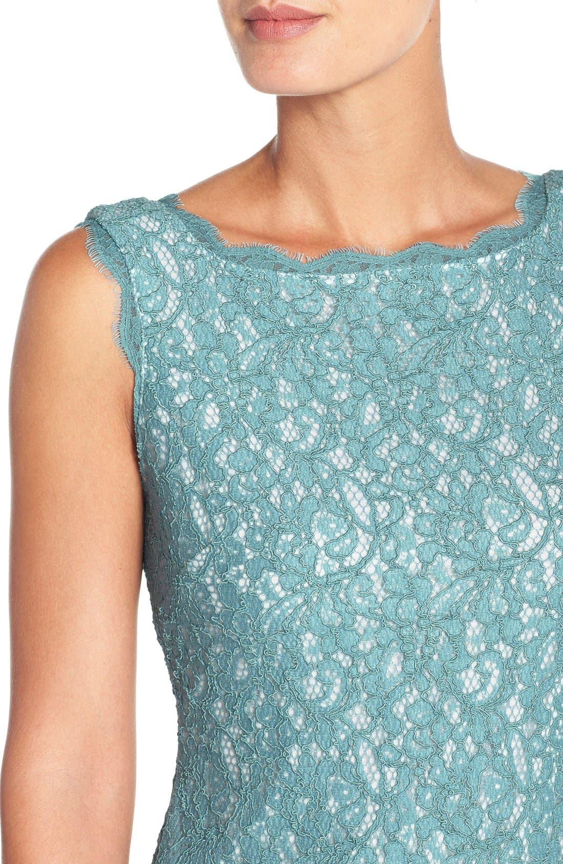 Boatneck Lace Sheath Dress,                             Alternate thumbnail 109, color,