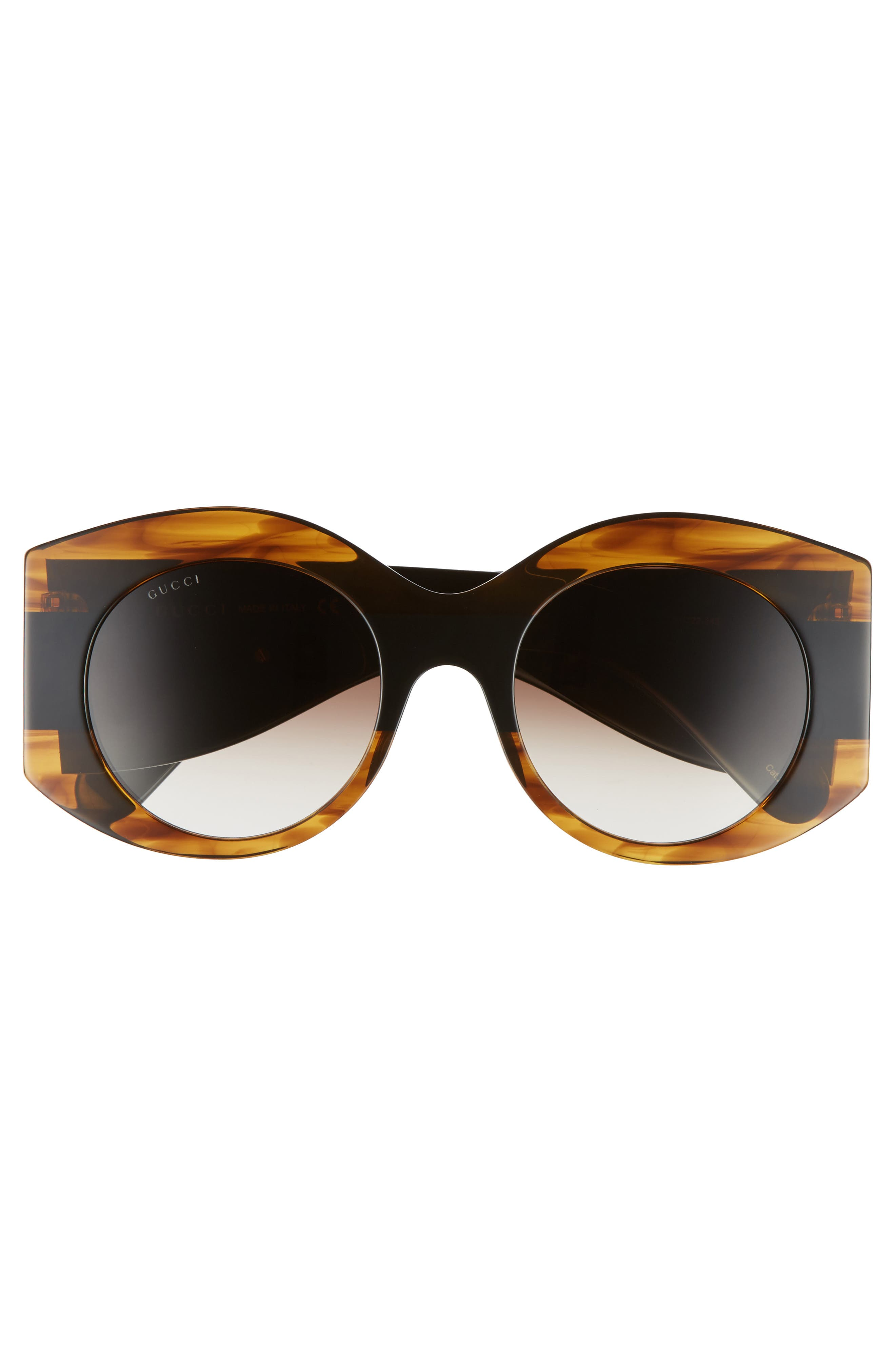 51mm Transparent Stripe Sunglasses,                             Alternate thumbnail 3, color,                             201