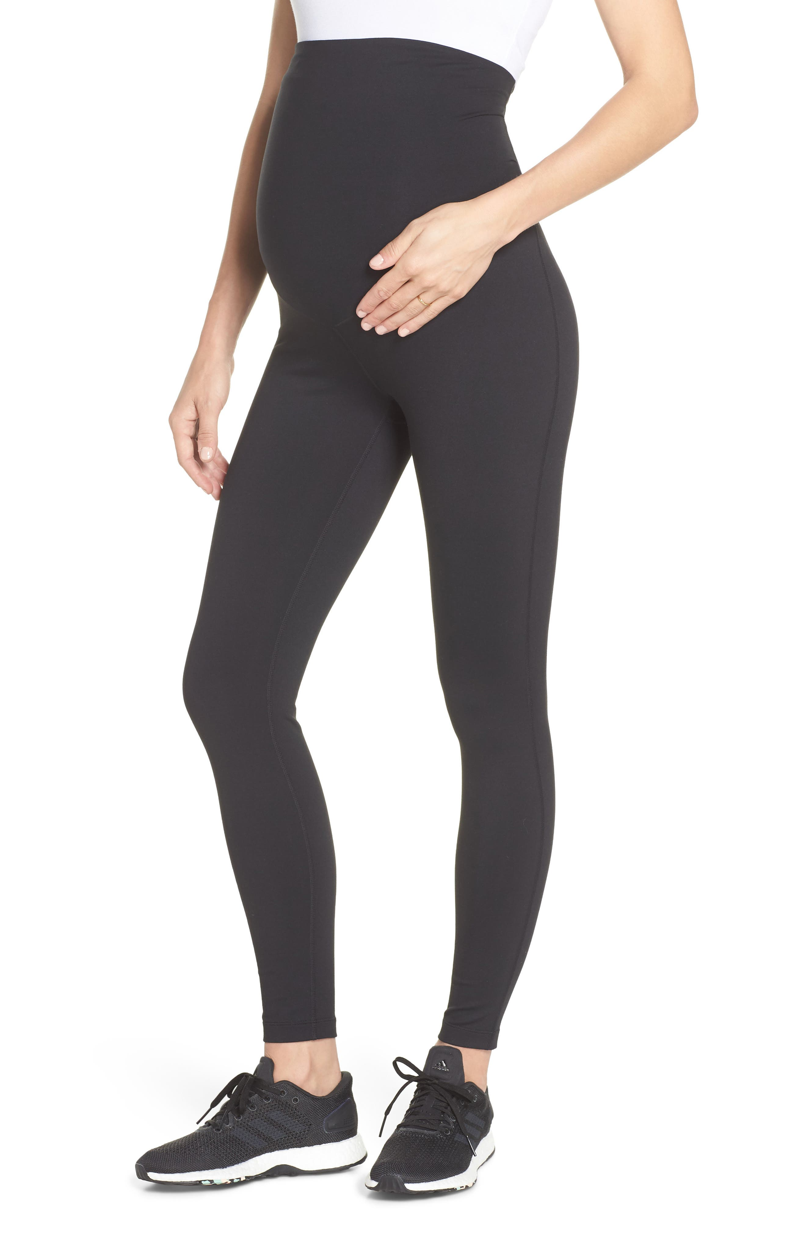 Mamasana Live In Maternity Ankle Leggings,                         Main,                         color, BLACK