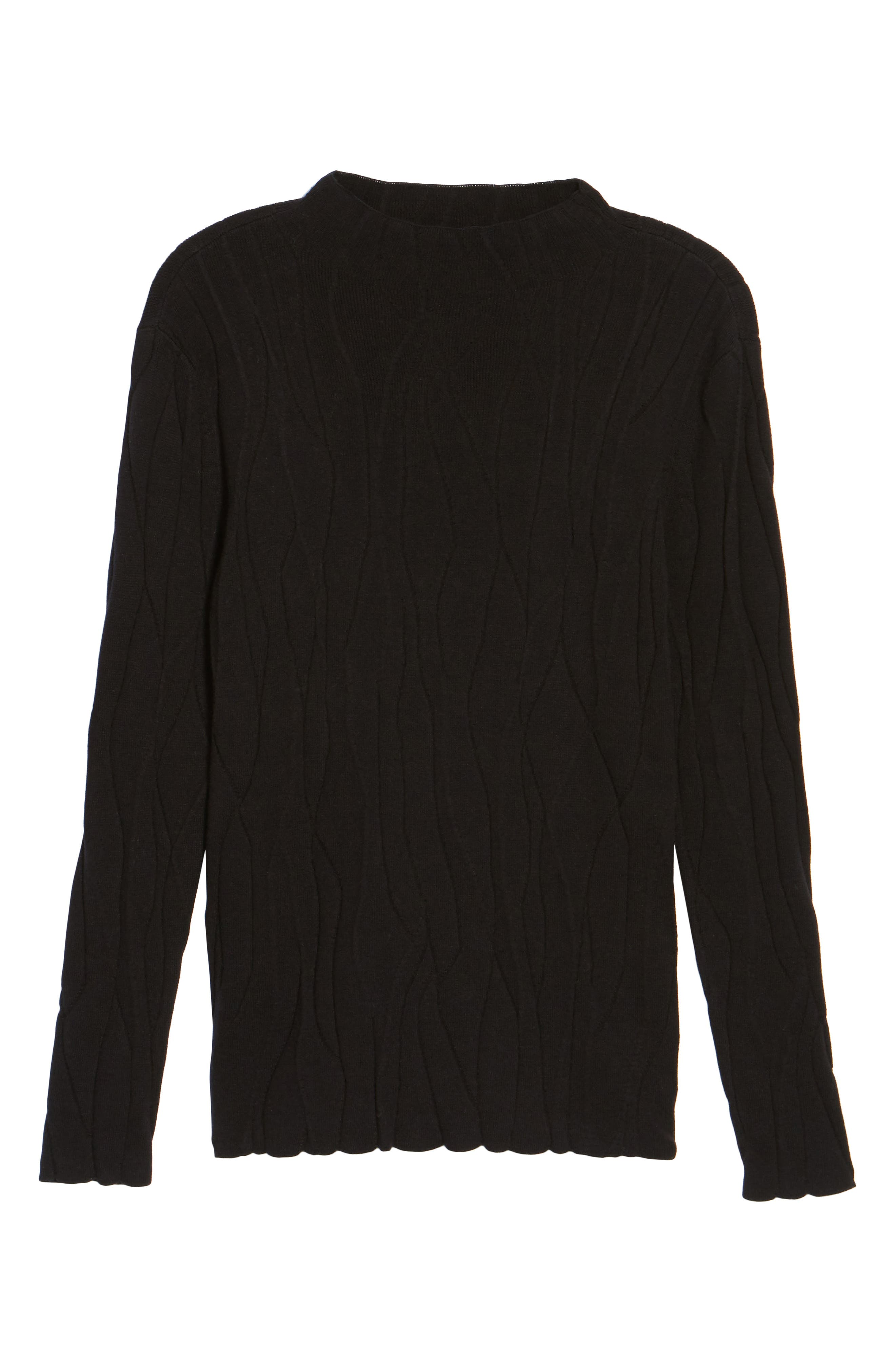 Artisanal Crackle Jacquard Sweater,                             Alternate thumbnail 6, color,                             004