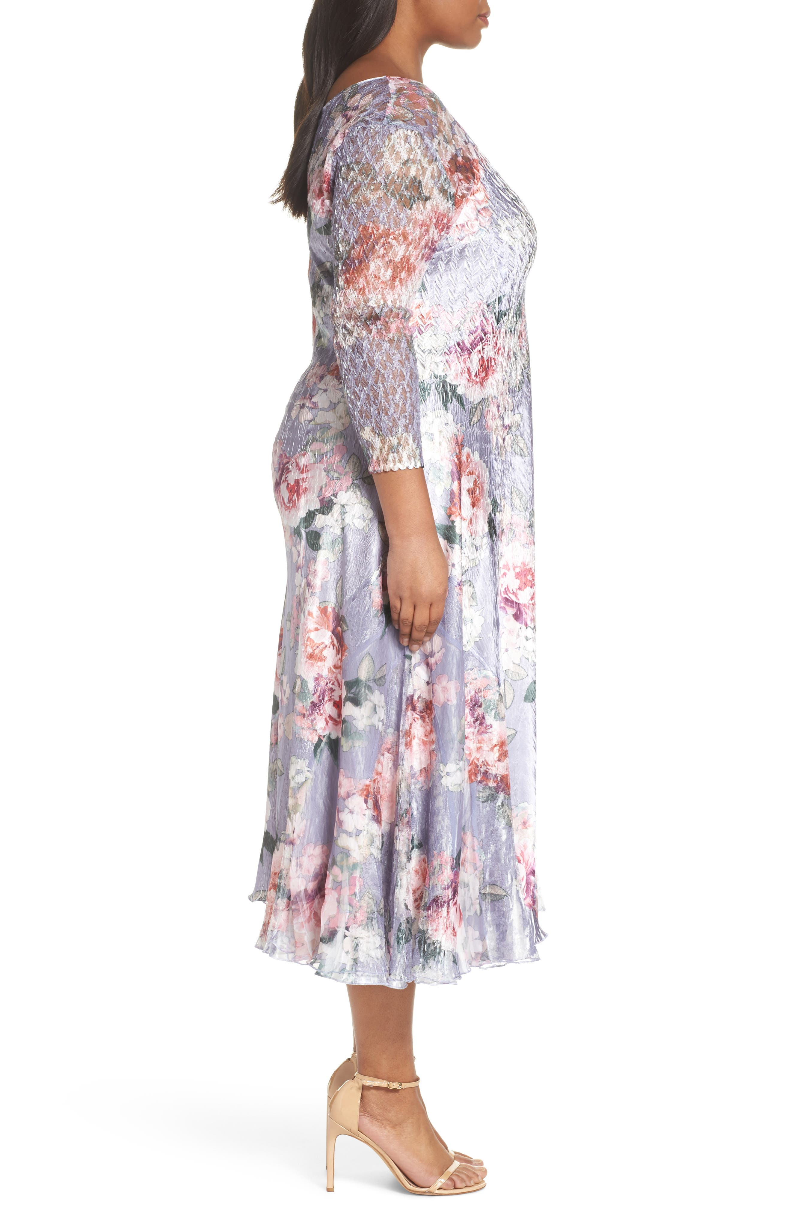 Charmeuse A-Line Dress,                             Alternate thumbnail 3, color,