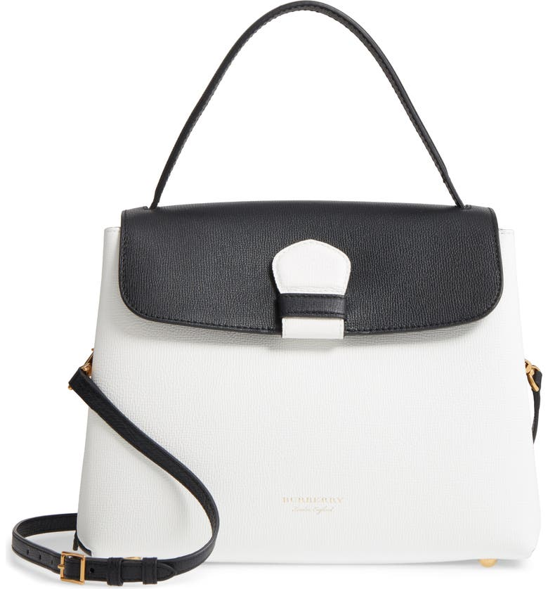 8a8bdaad5195 BURBERRY Medium Camberley Colorblock Leather   House Check Top Handle  Satchel