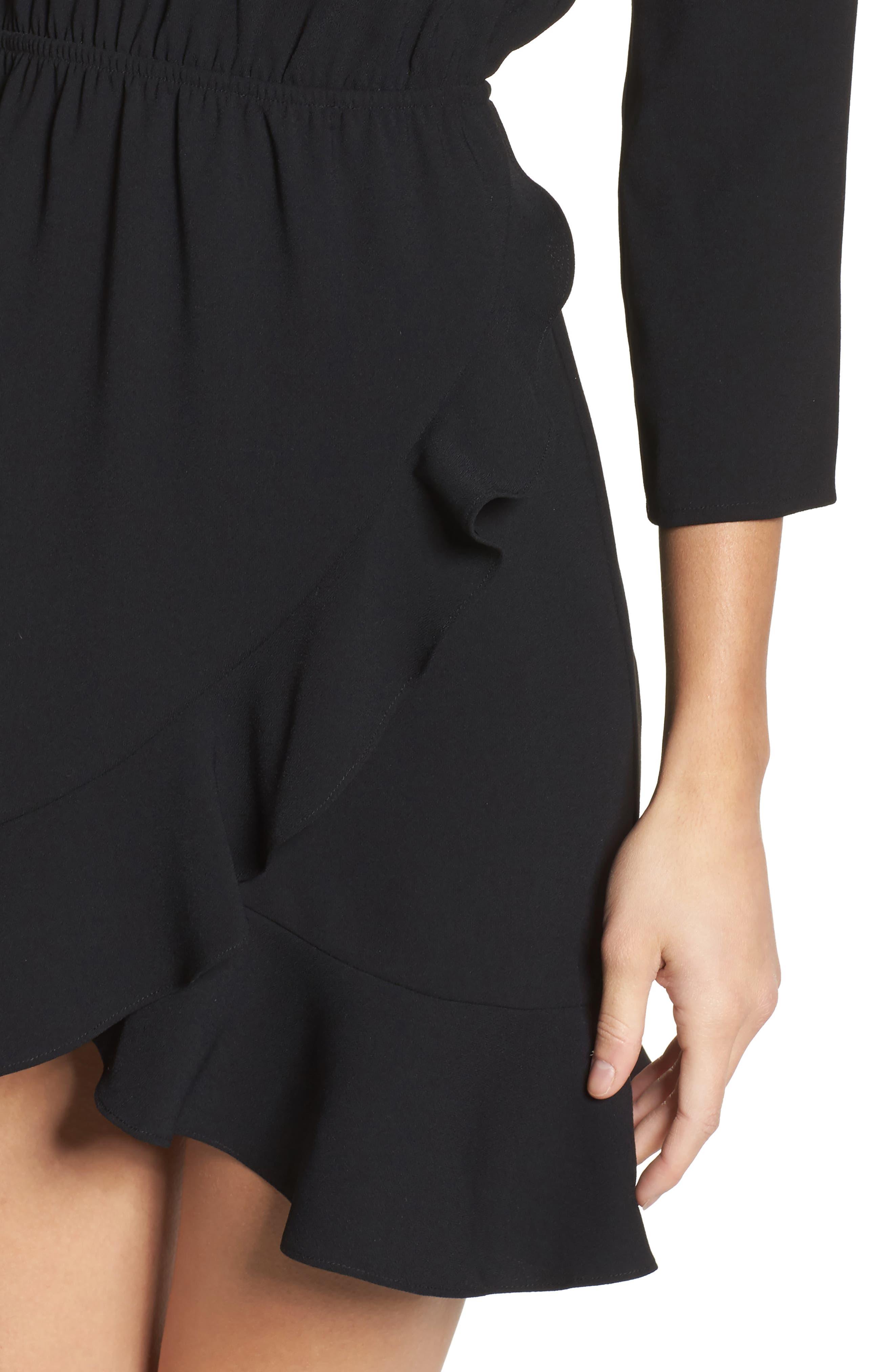 St Germain Ruffle Fit & Flare Dress,                             Alternate thumbnail 7, color,