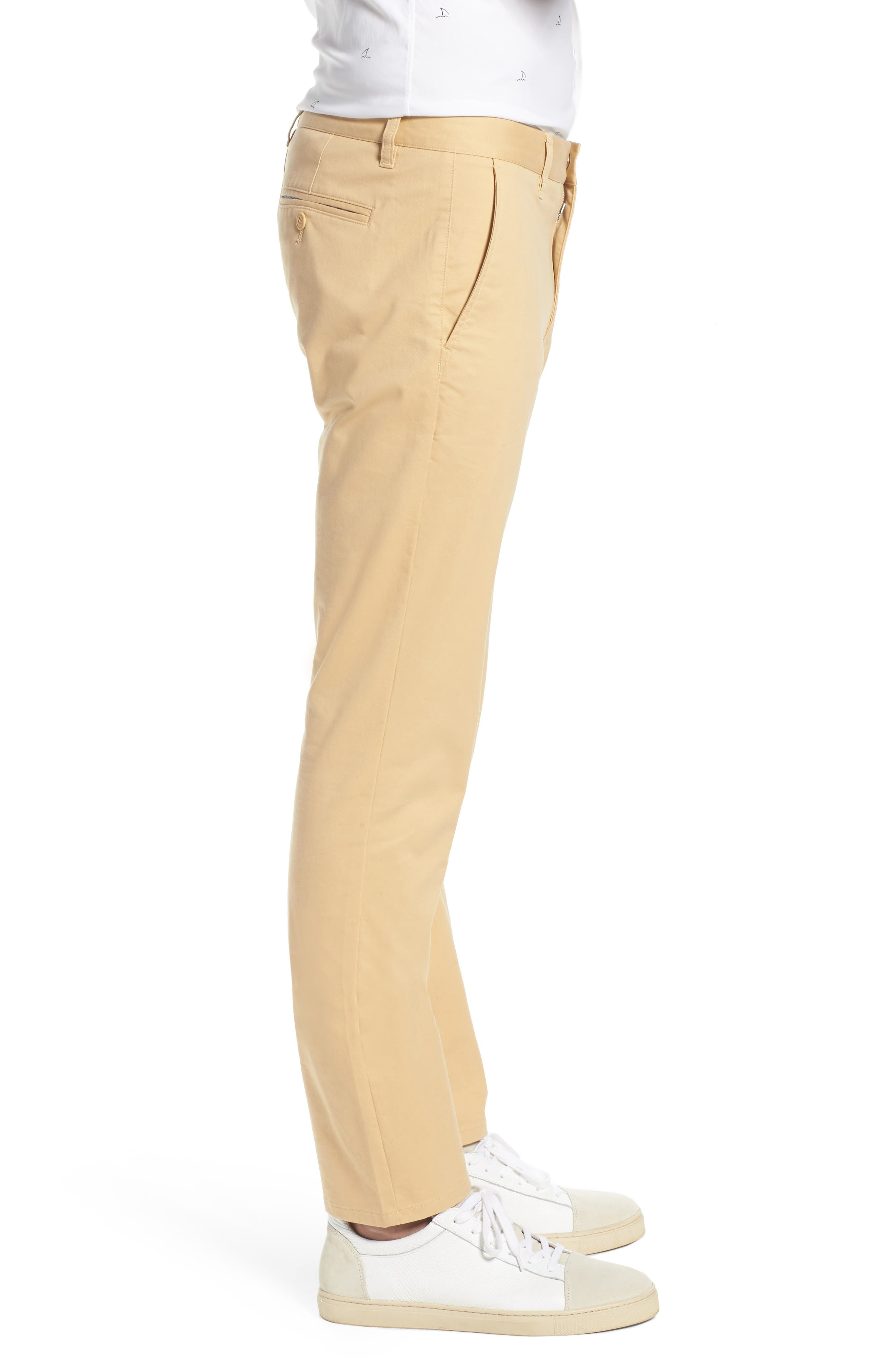 Tailored Fit Washed Stretch Cotton Chinos,                             Alternate thumbnail 76, color,