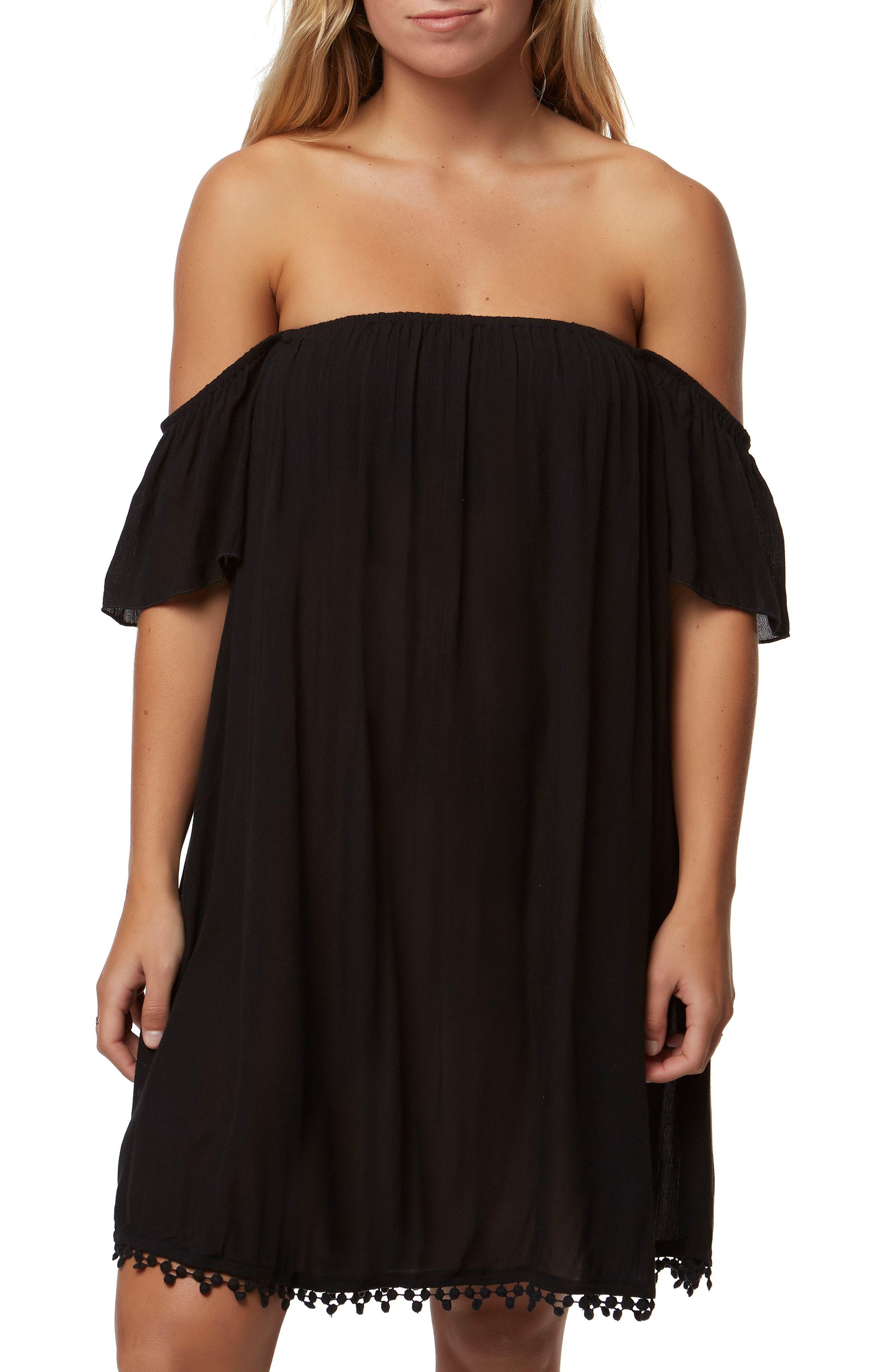 Kinsey Off the Shoulder Dress,                         Main,                         color, 001