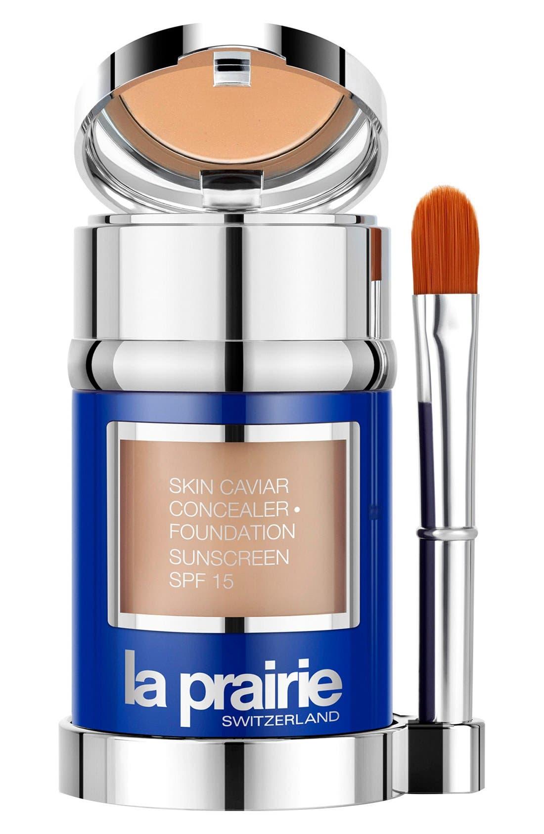 Skin Caviar Concealer + Foundation Sunscreen SPF 15,                             Alternate thumbnail 4, color,                             WARM BEIGE