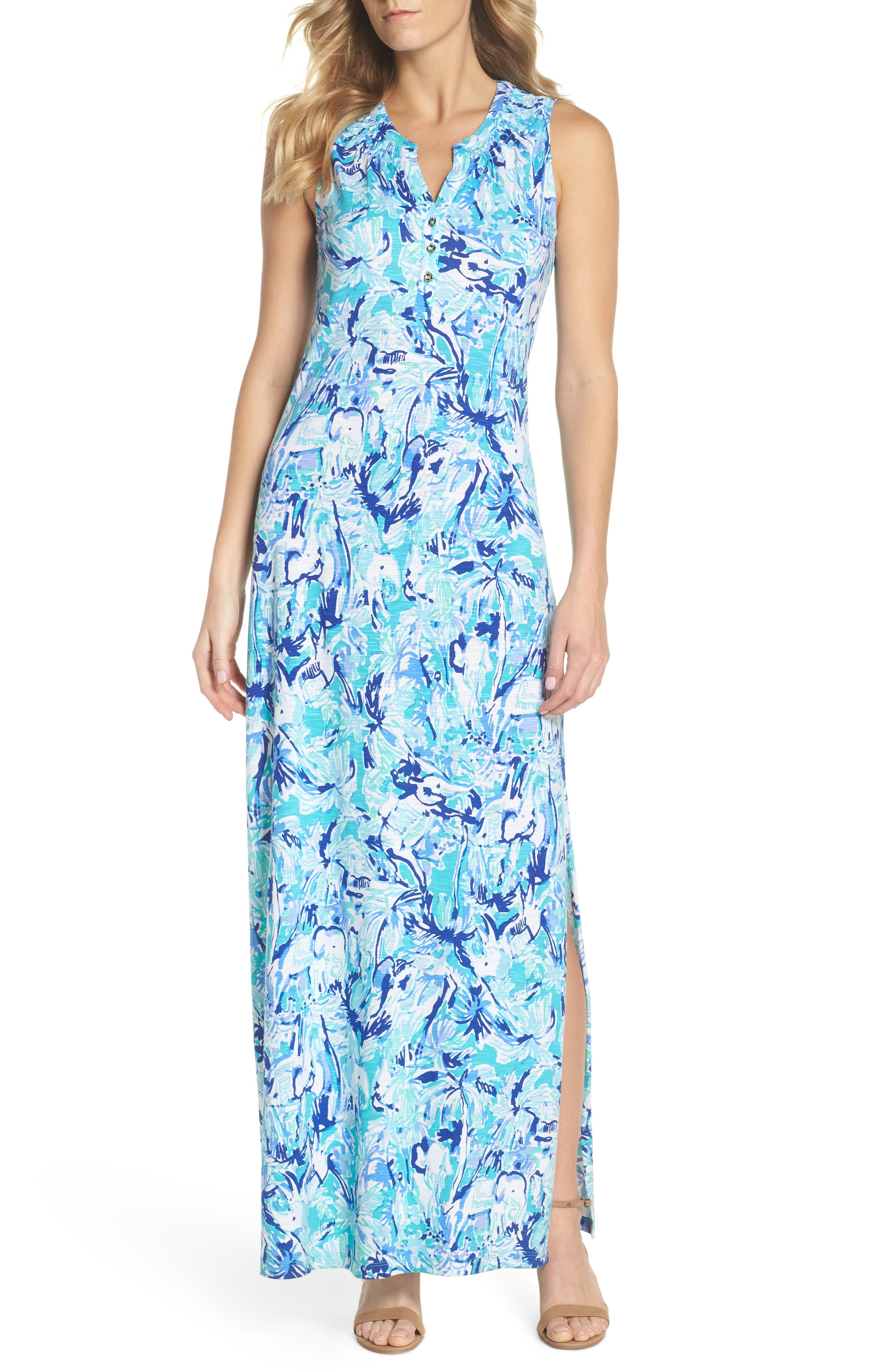 Essie Maxi Dress,                             Alternate thumbnail 5, color,                             421