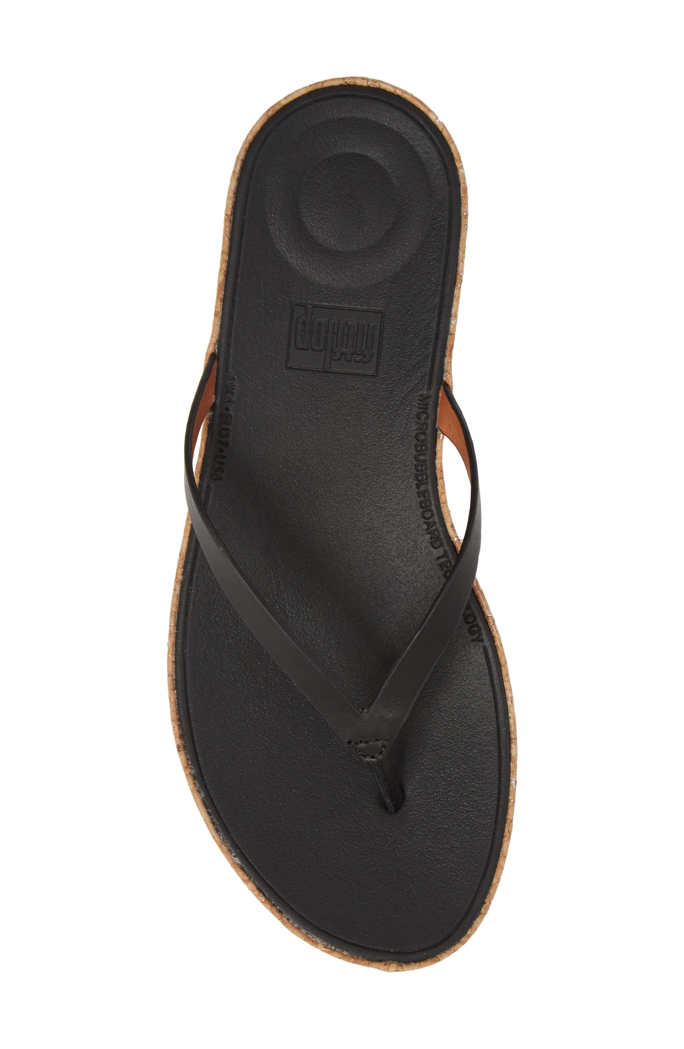 FITFLOP,                             Linny Wedge Flip Flop,                             Alternate thumbnail 5, color,                             001