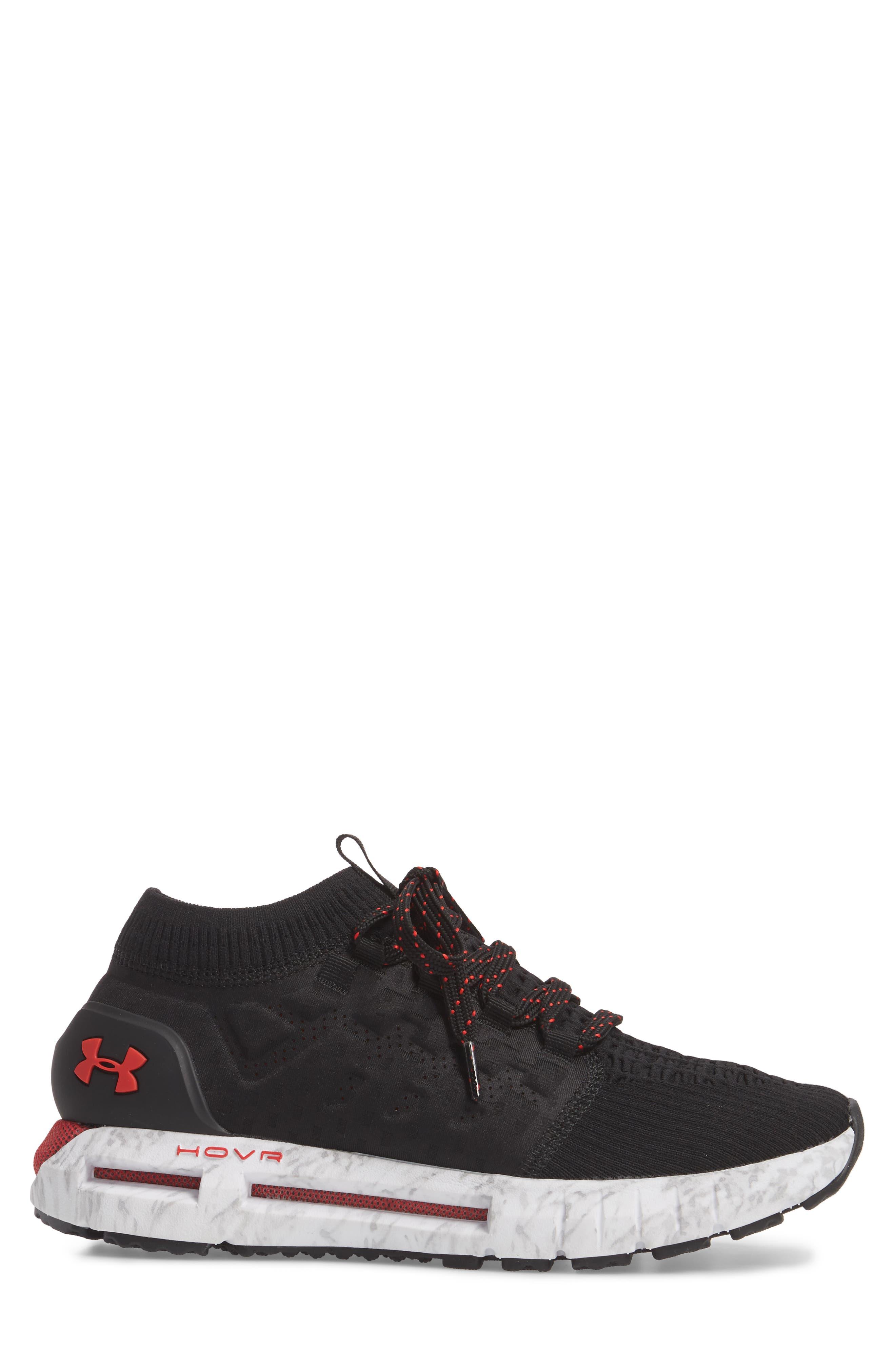 HOVR Phantom NC Sneaker,                             Alternate thumbnail 3, color,                             BLACK/ WHITE/ RED