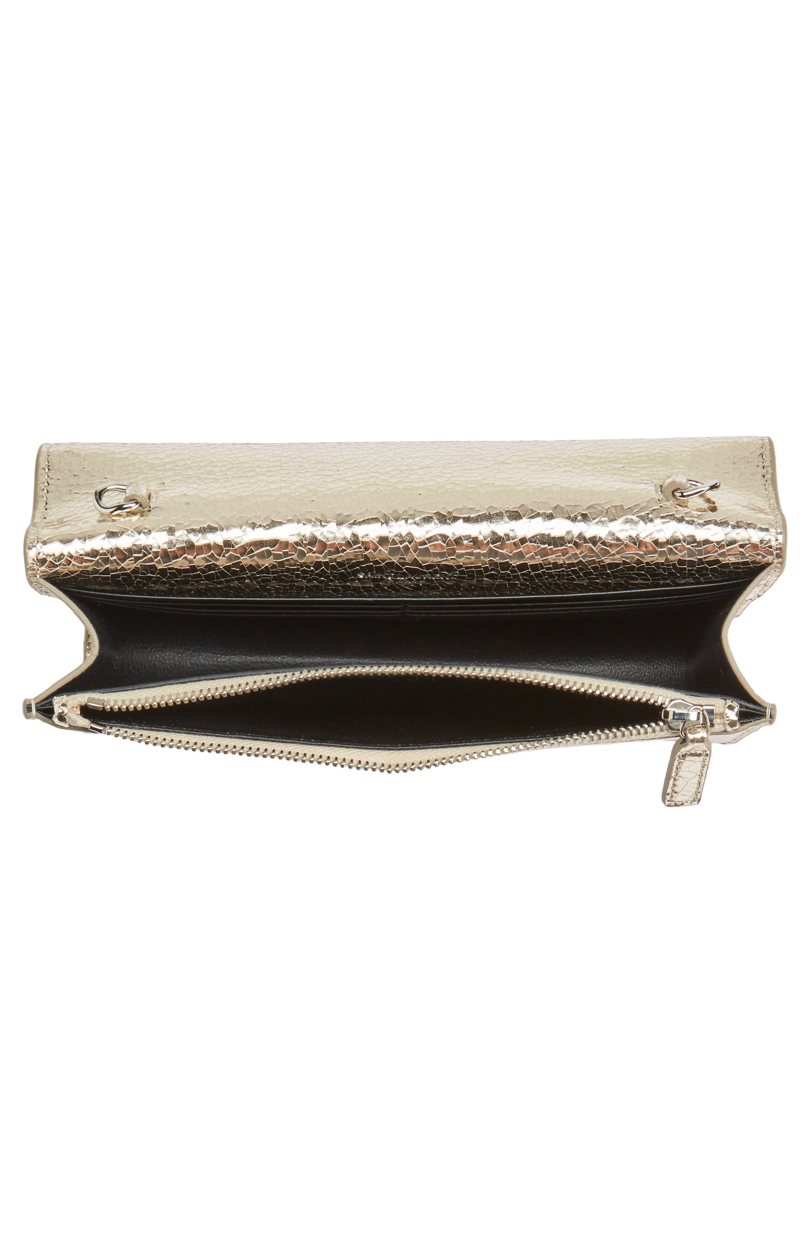 Kate Crackle Calfskin Wallet on a Chain,                             Alternate thumbnail 4, color,                             710