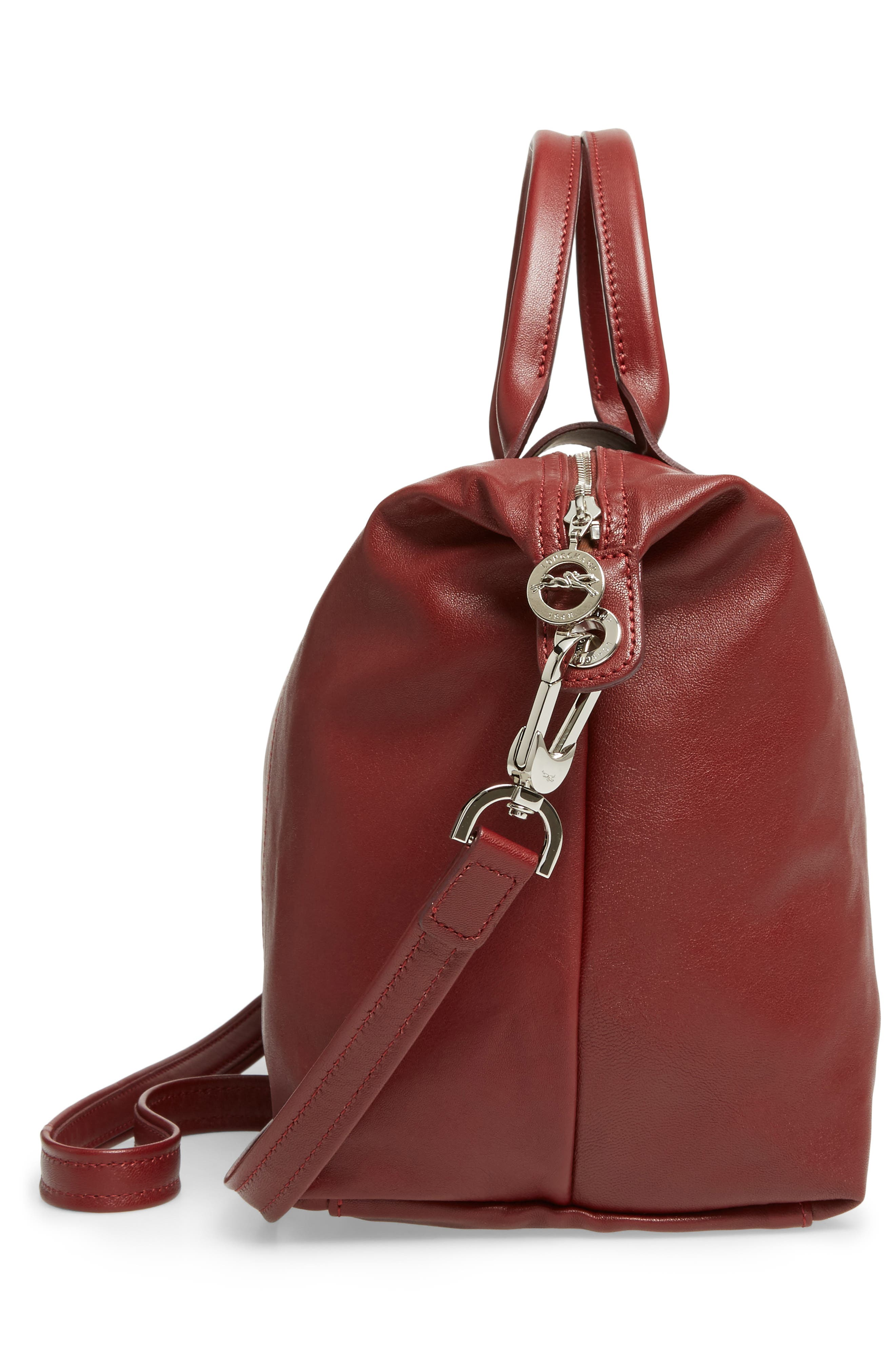 Medium 'Le Pliage Cuir' Leather Top Handle Tote,                             Alternate thumbnail 99, color,
