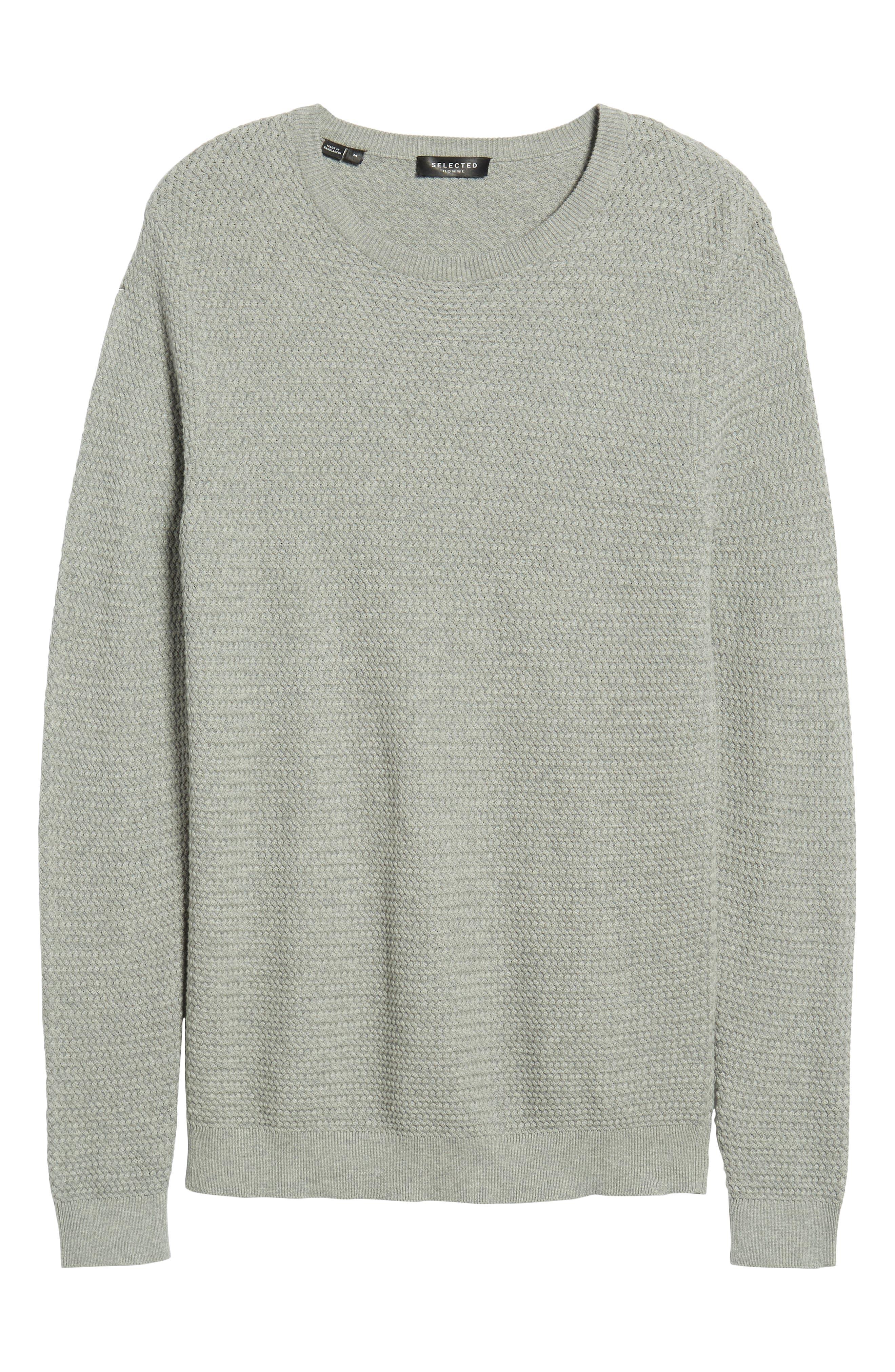 Martin Regular Fit Crewneck Sweater,                             Alternate thumbnail 6, color,                             MEDIUM GREY