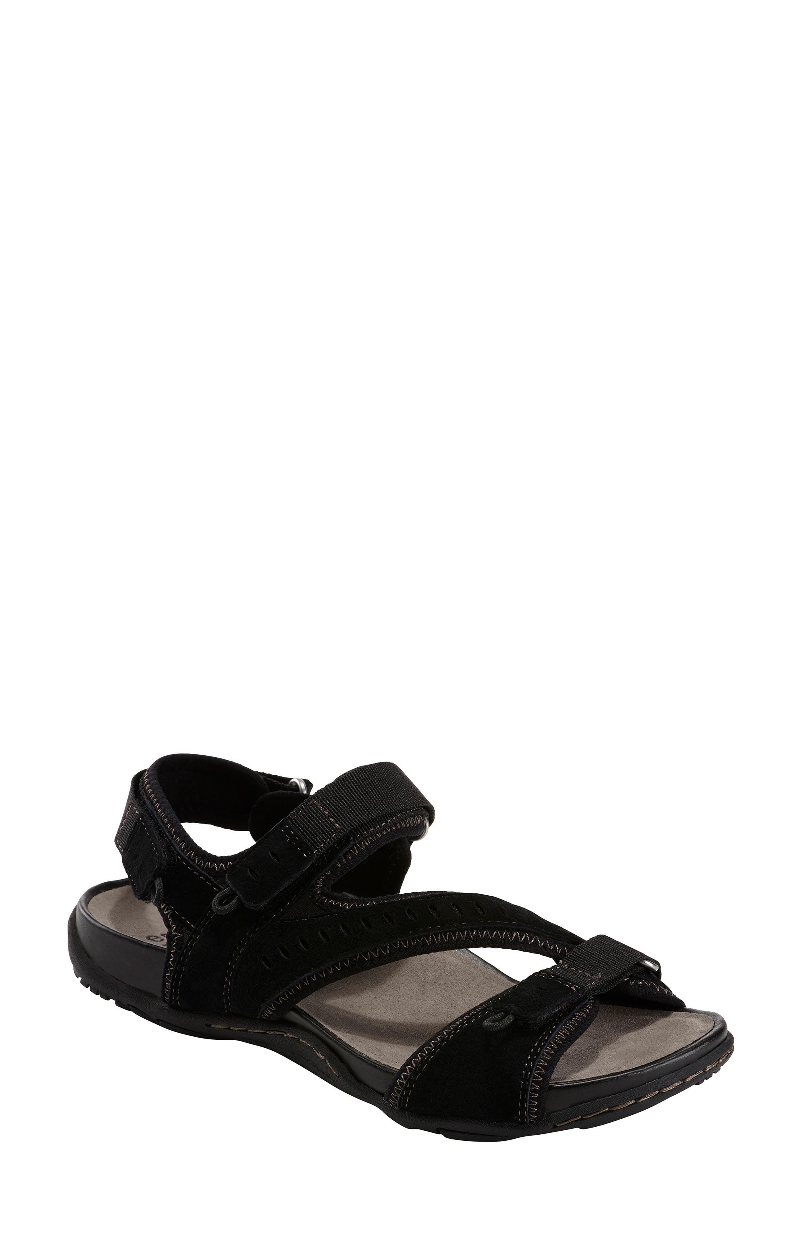 EARTH<SUP>®</SUP> Nevis Sandal, Main, color, BLACK NUBUCK LEATHER