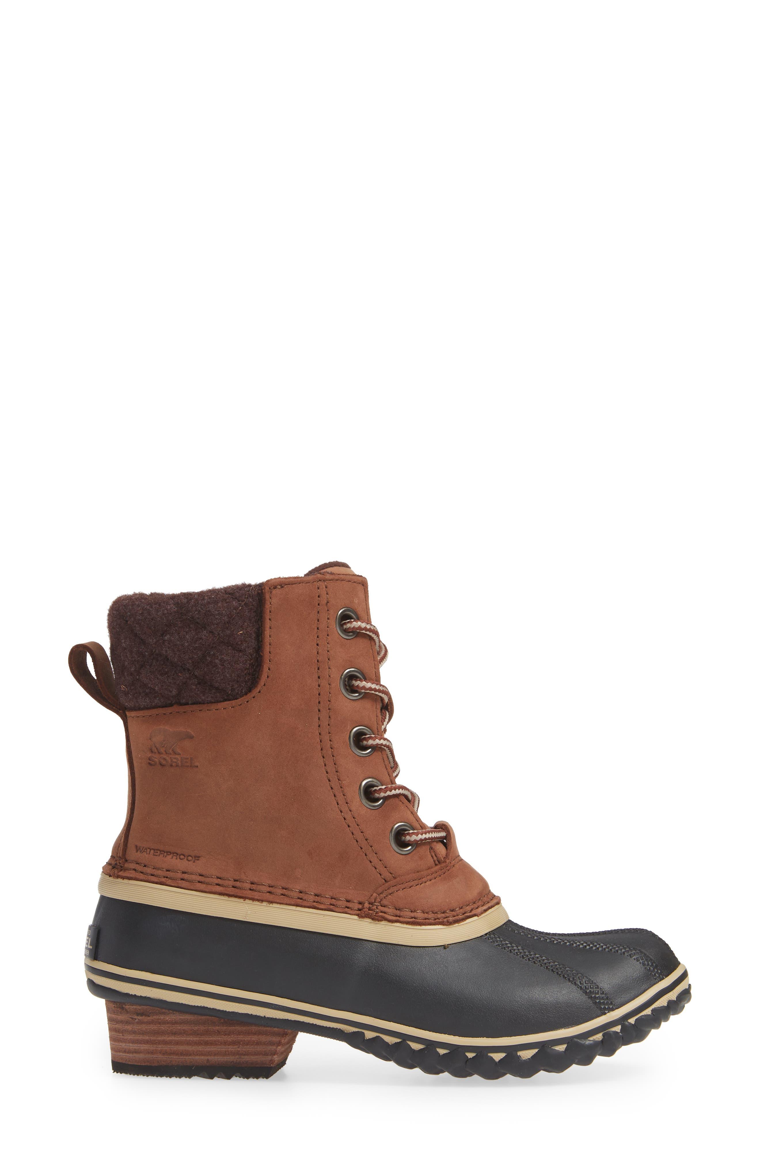 SOREL,                             Slimpack II Waterproof Boot,                             Alternate thumbnail 3, color,                             BURRO/ CATTAIL