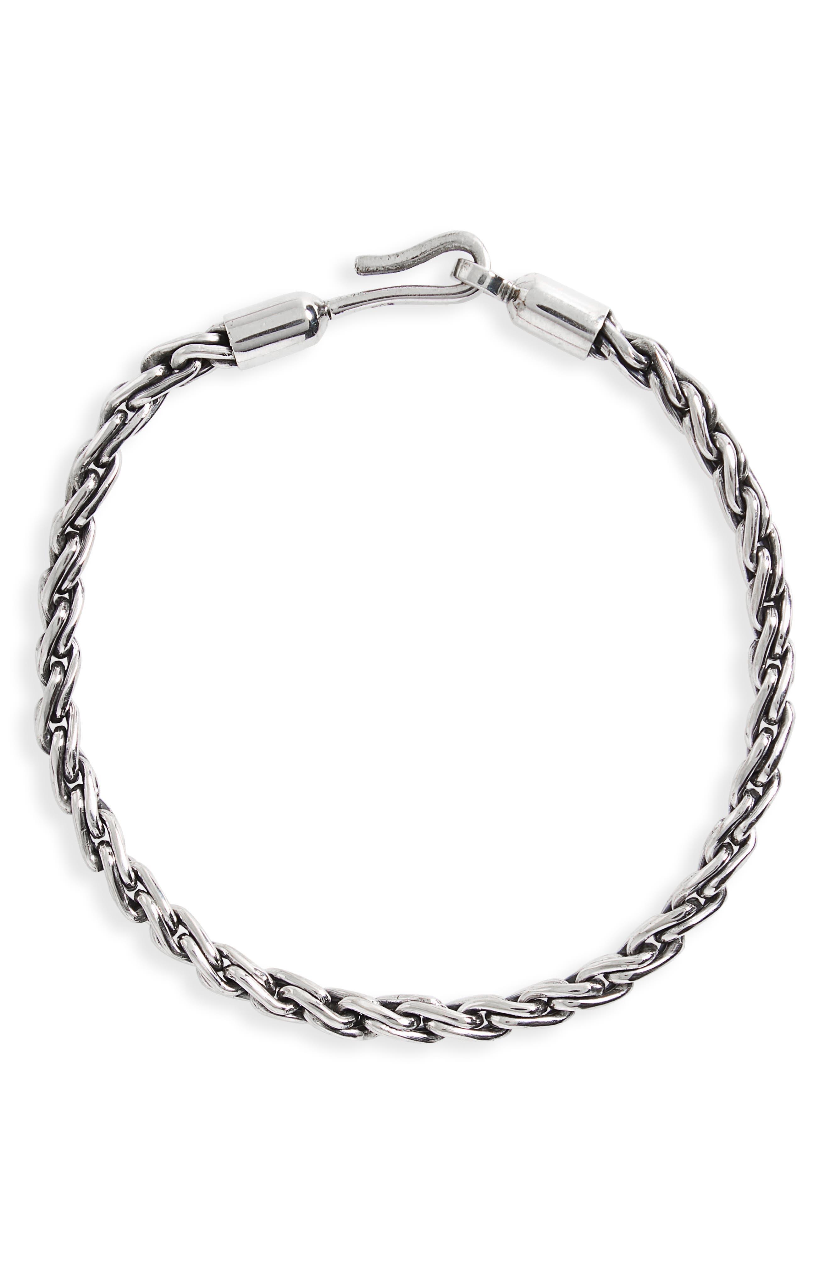 Sterling Silver Chain Robe Bracelet,                             Main thumbnail 1, color,                             040