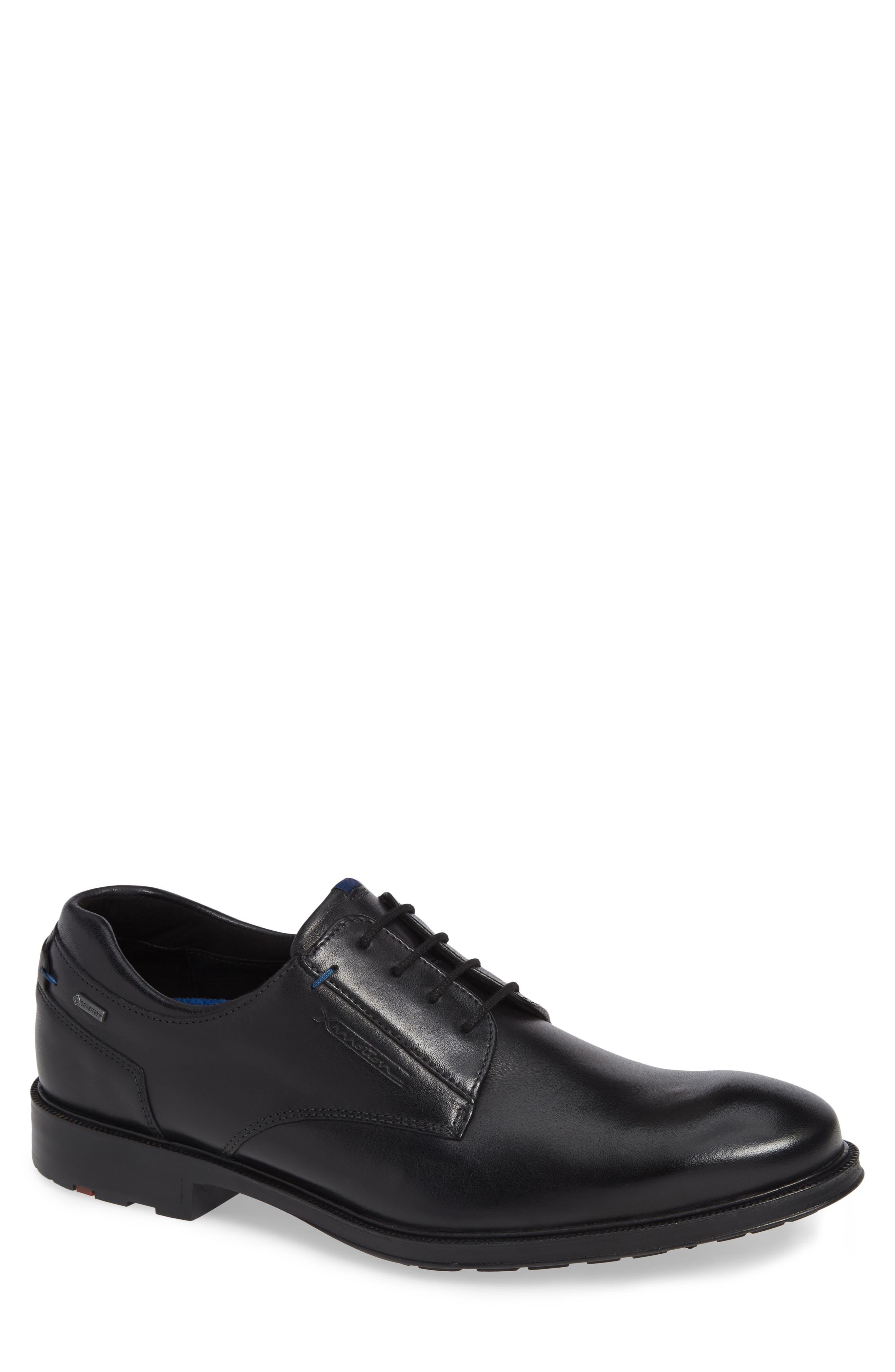 Veria Gore-Tex<sup>®</sup> Plain Toe Derby,                         Main,                         color, BLACK LEATHER