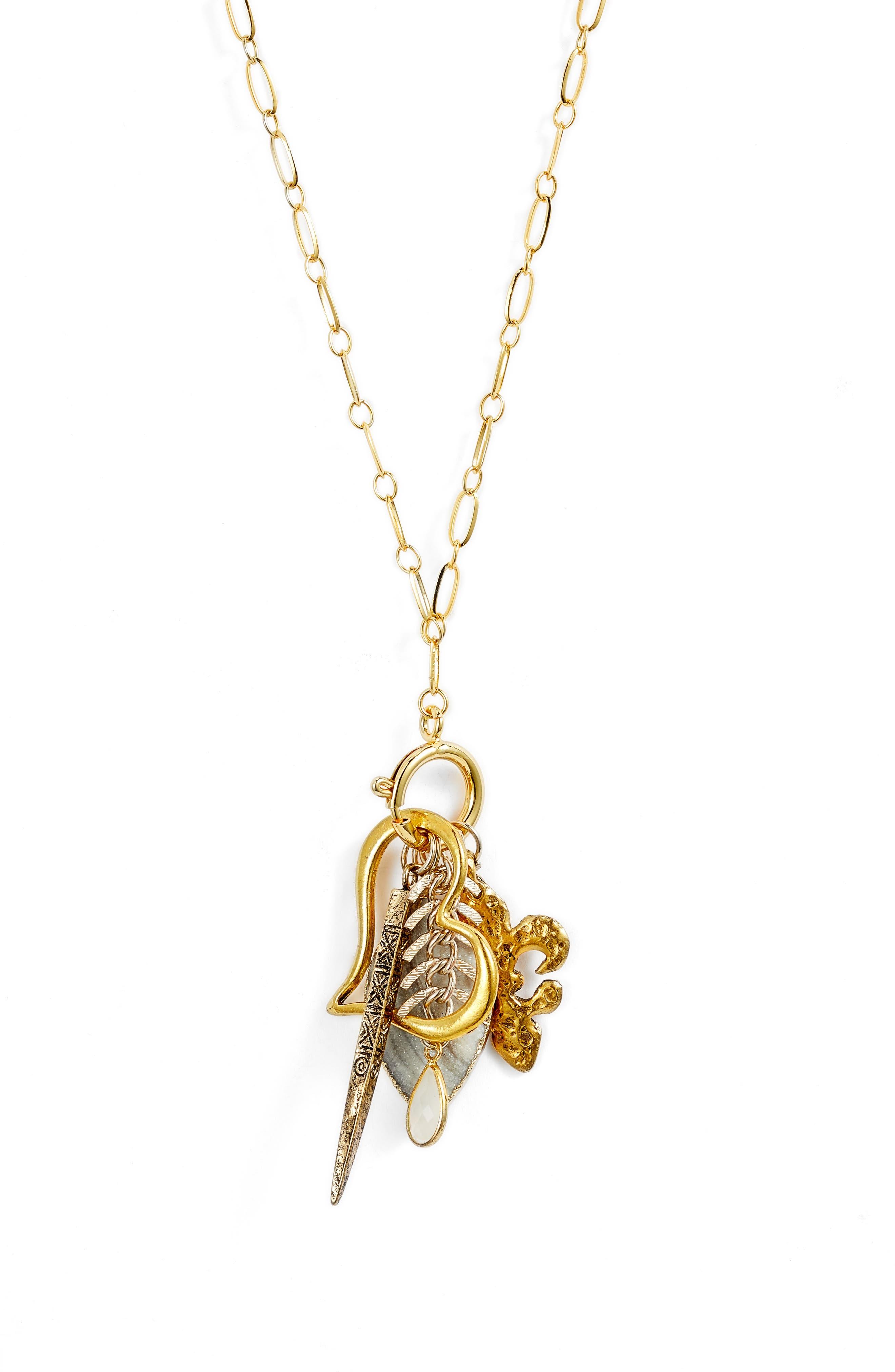 Avalon Charm Necklace,                             Alternate thumbnail 2, color,                             710