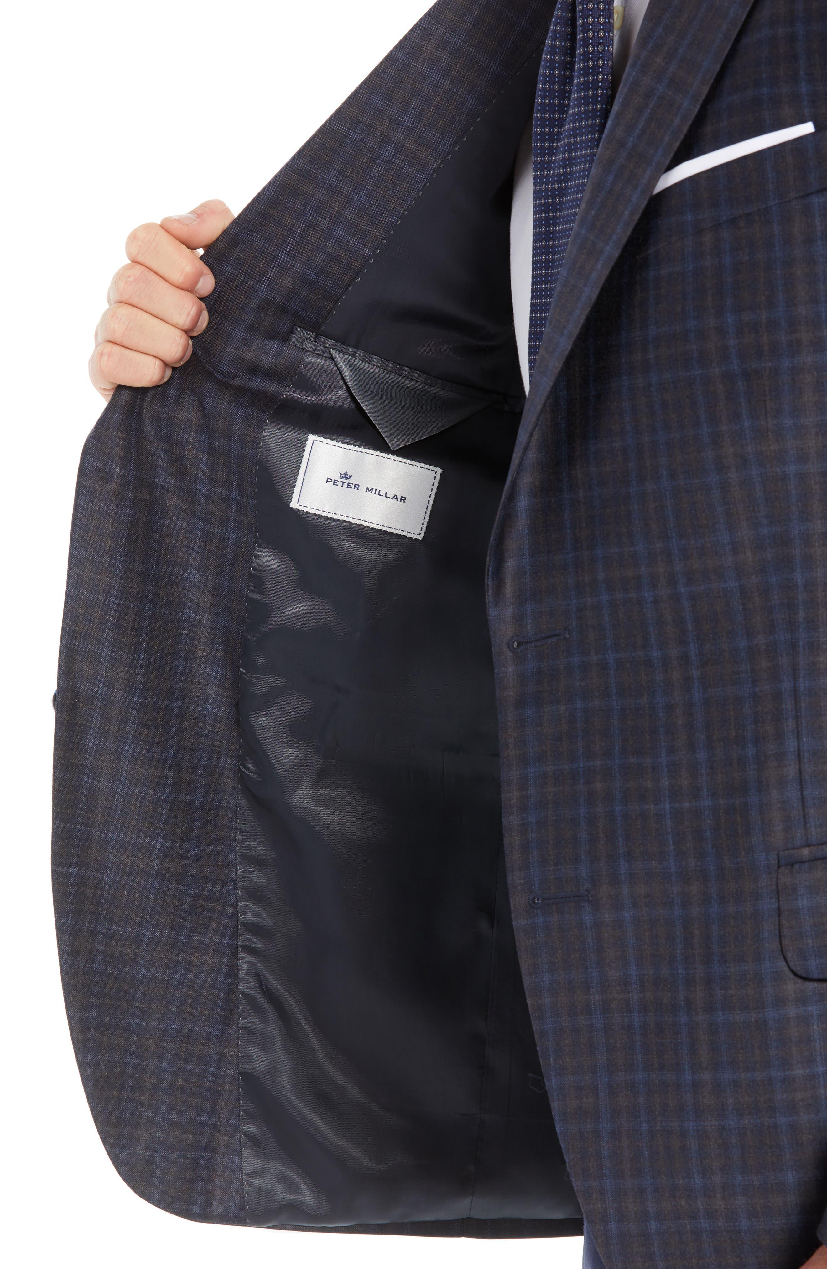 Flynn Classic Fit Wool Sport Coat,                             Alternate thumbnail 4, color,                             NAVY