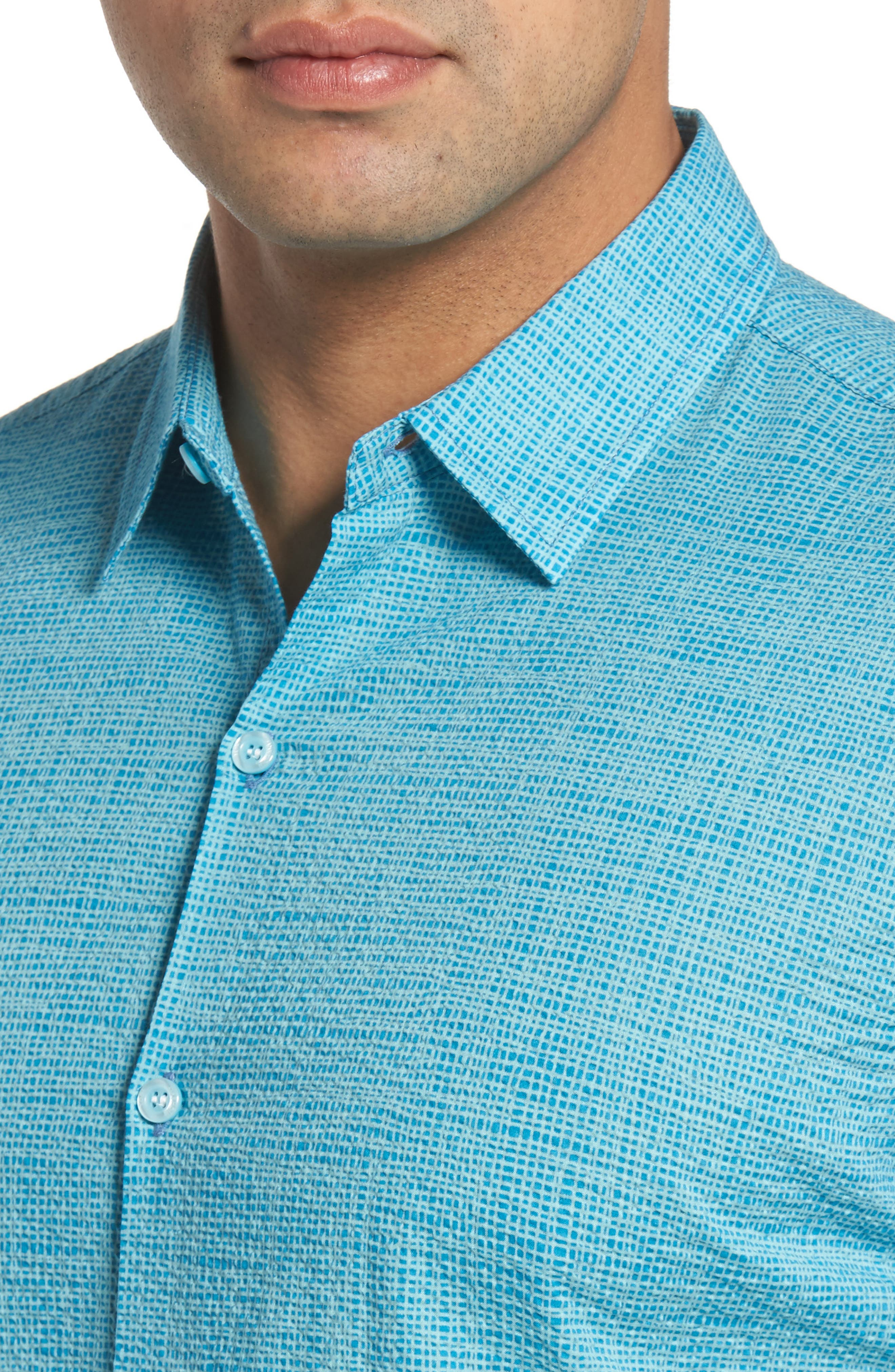 Net Worth Slim Fit Camp Shirt,                             Alternate thumbnail 4, color,                             400