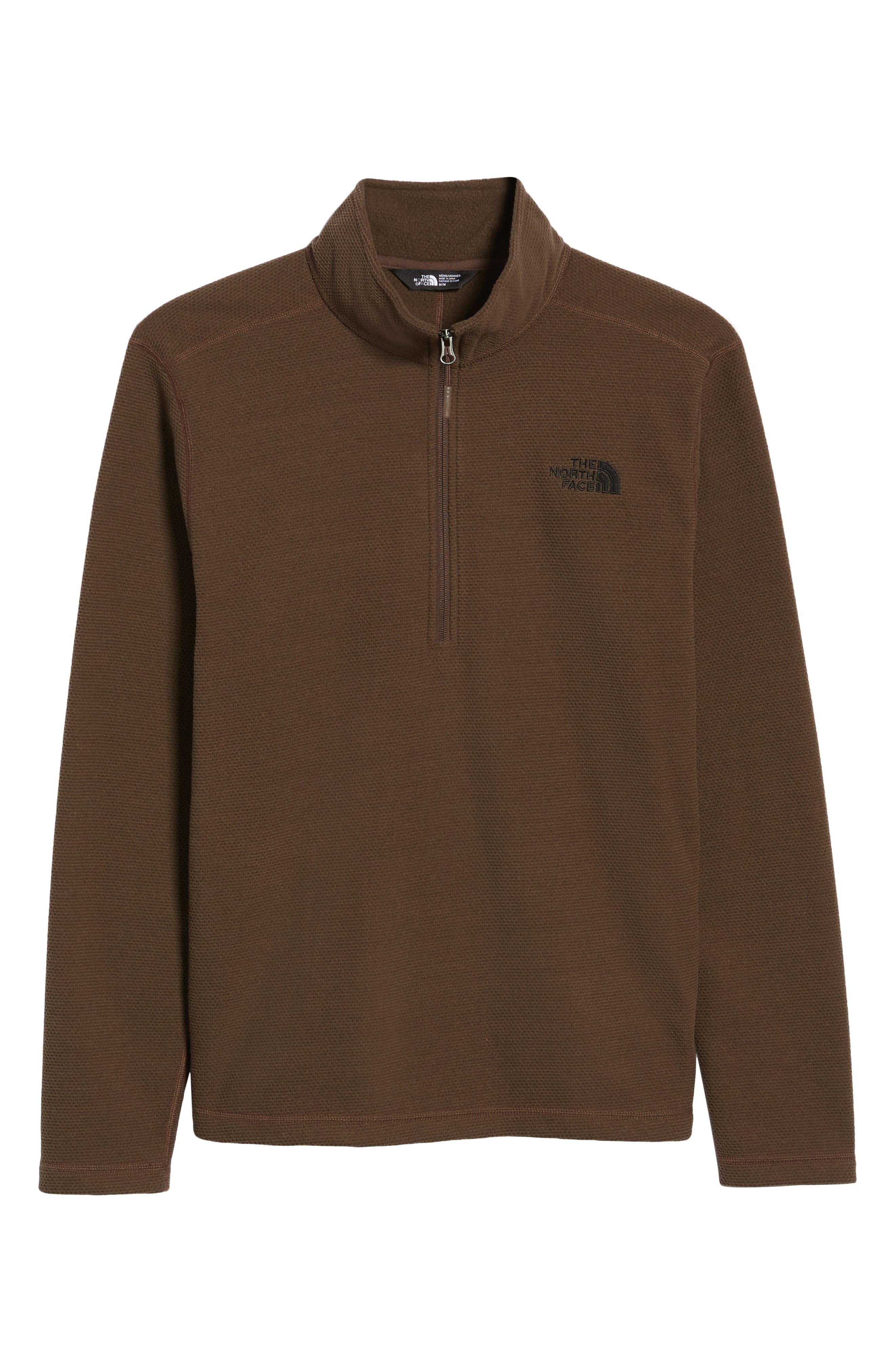 Texture Cap Rock Quarter Zip Fleece Jacket,                             Alternate thumbnail 6, color,                             BRACKEN BROWN
