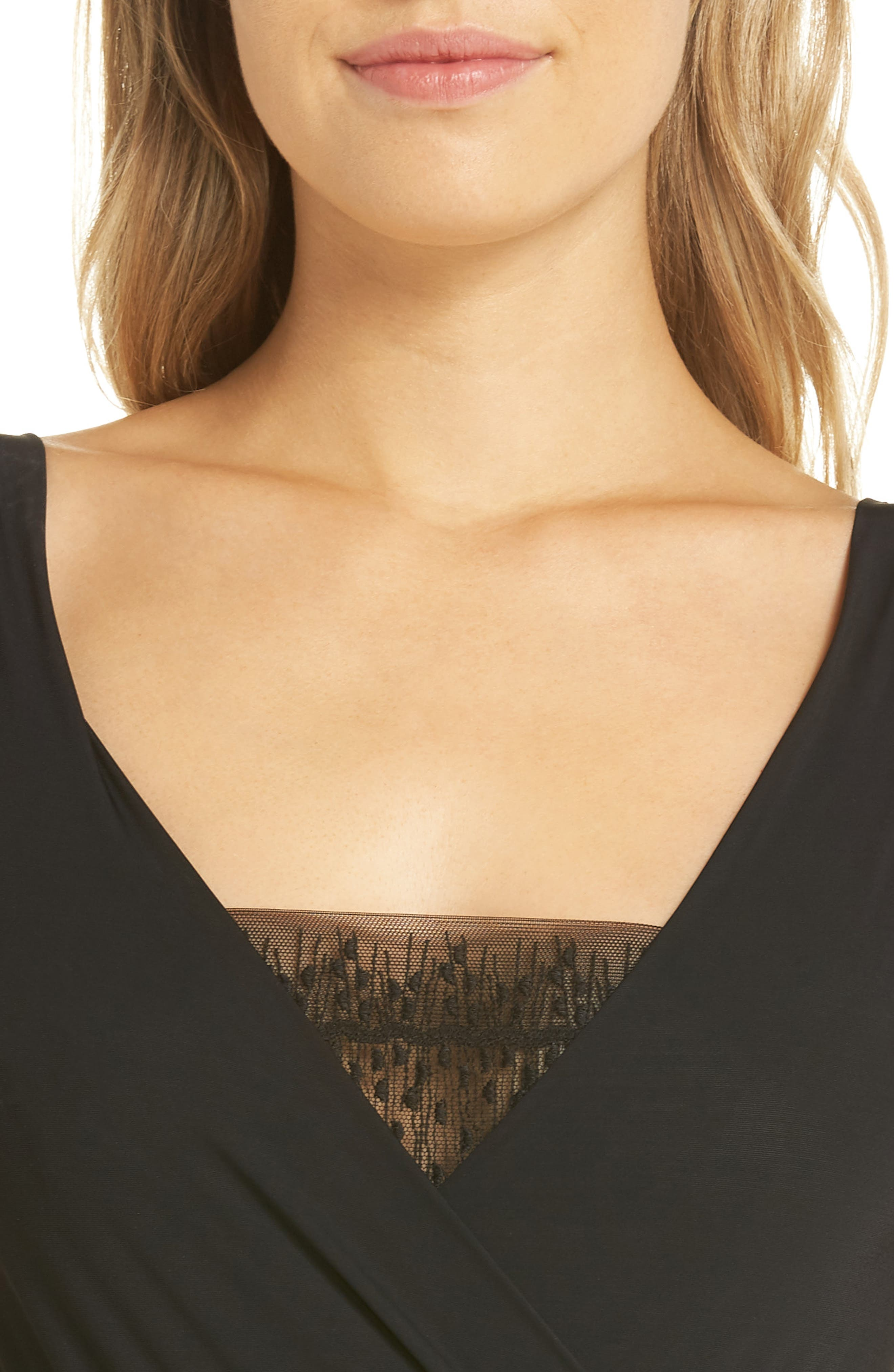 Imprevue Bodysuit,                             Alternate thumbnail 4, color,                             001