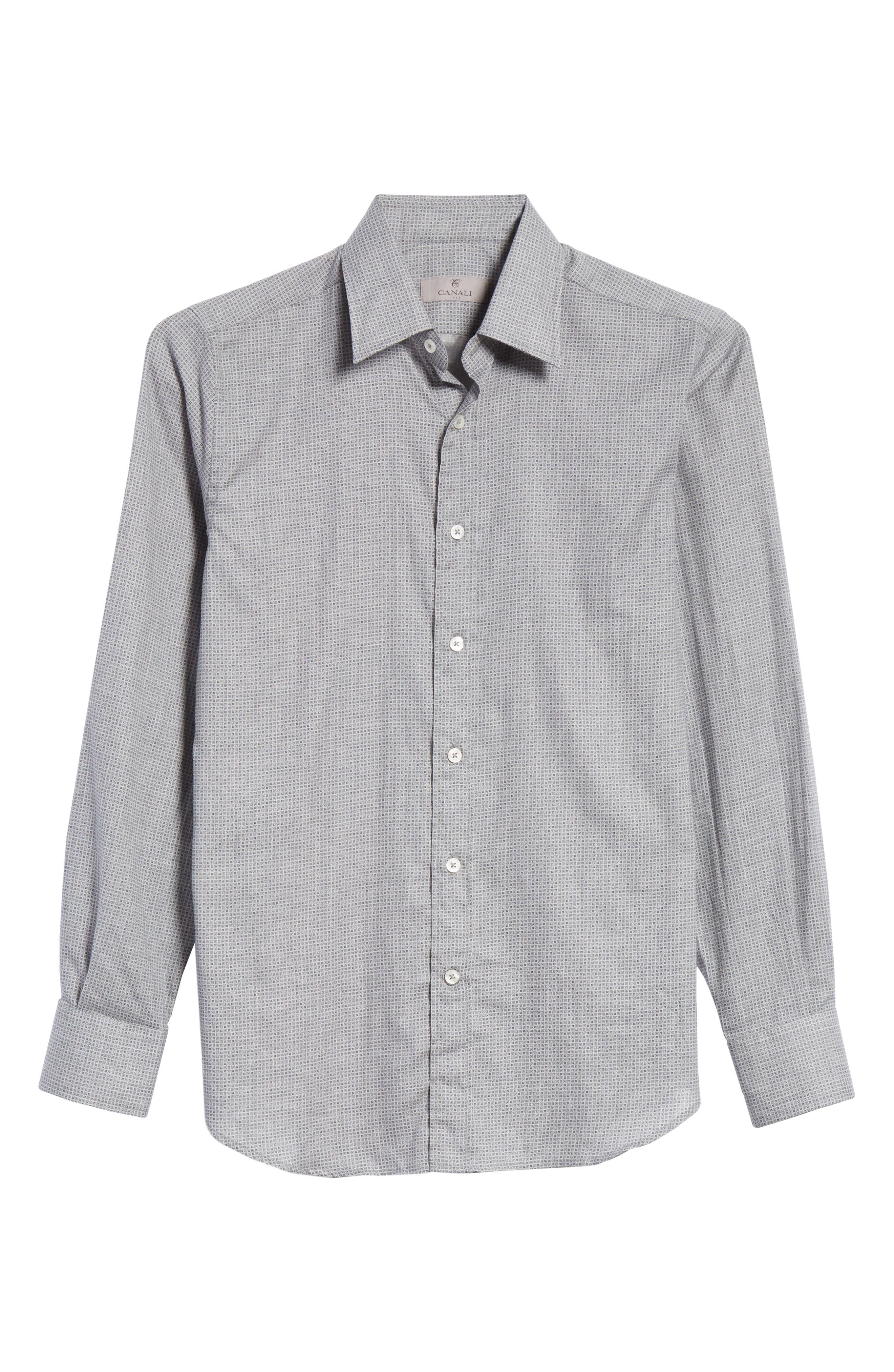 Classic Fit Geometric Dress Shirt,                             Alternate thumbnail 6, color,                             020