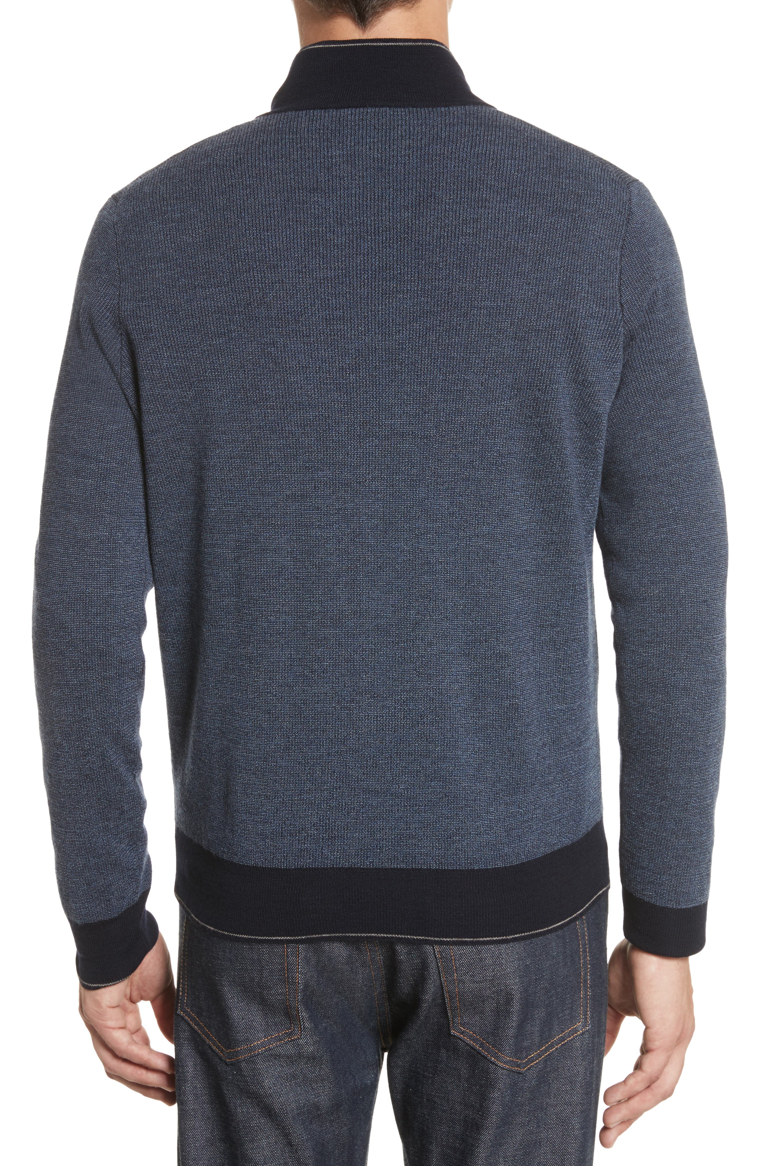 Quarter Zip Wool Sweater,                             Alternate thumbnail 2, color,                             401