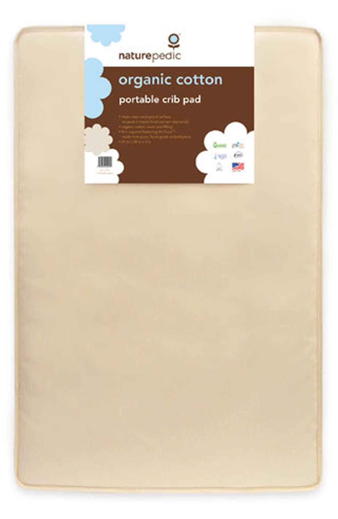 Organic Cotton Portable Crib Pad,                             Alternate thumbnail 2, color,