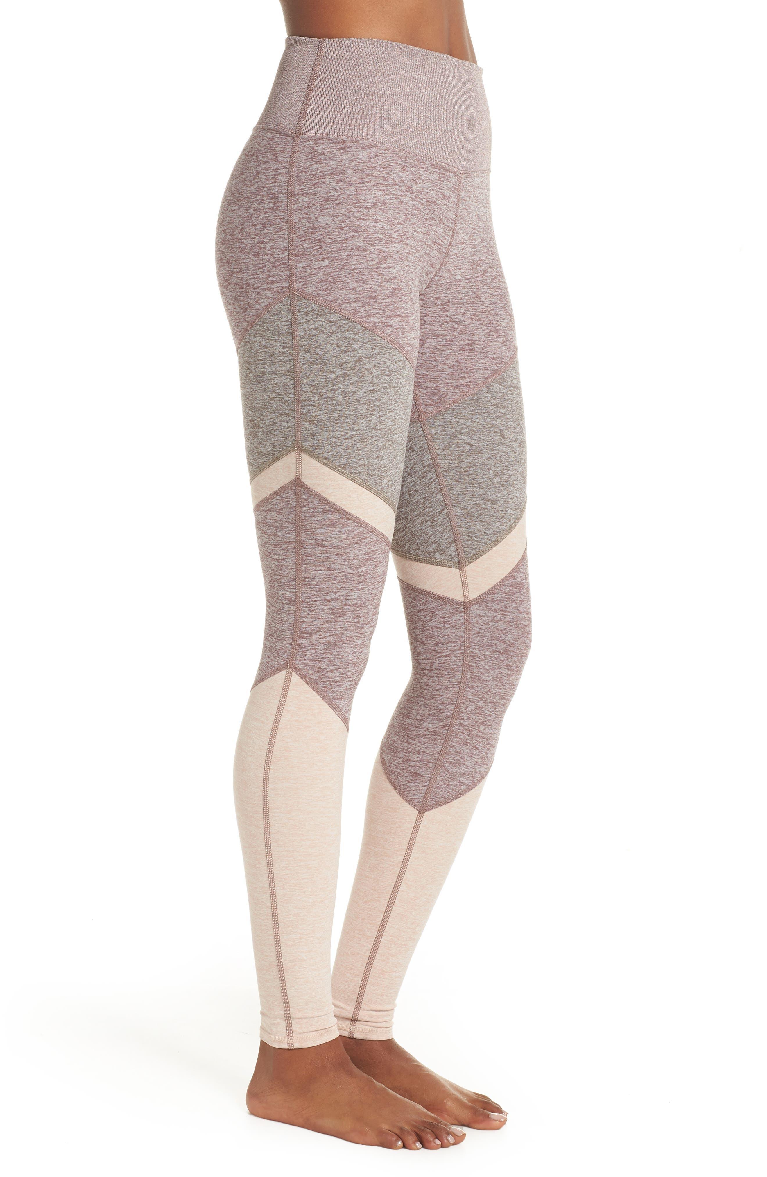 Sheila High Waist Leggings,                             Alternate thumbnail 3, color,                             SMOKY QUARTZ/ GRAVEL/ NECTAR