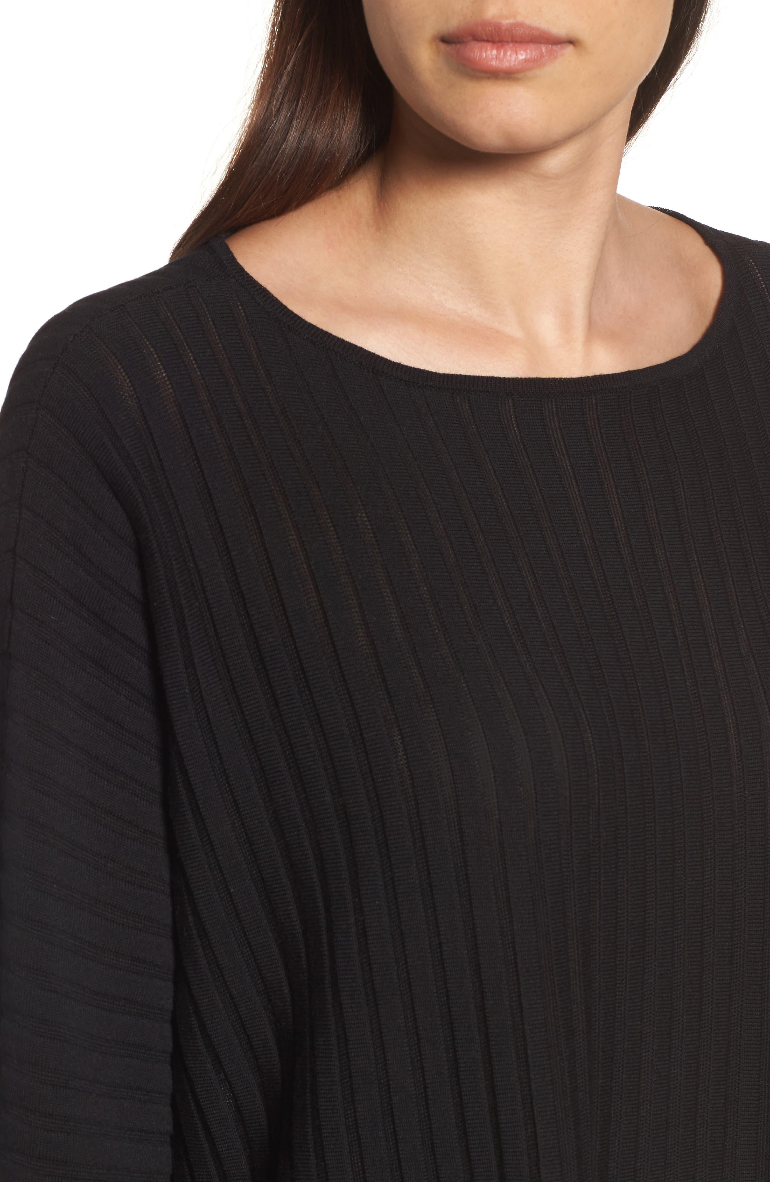 Ribbed Bateau Neck Sweater,                             Alternate thumbnail 13, color,