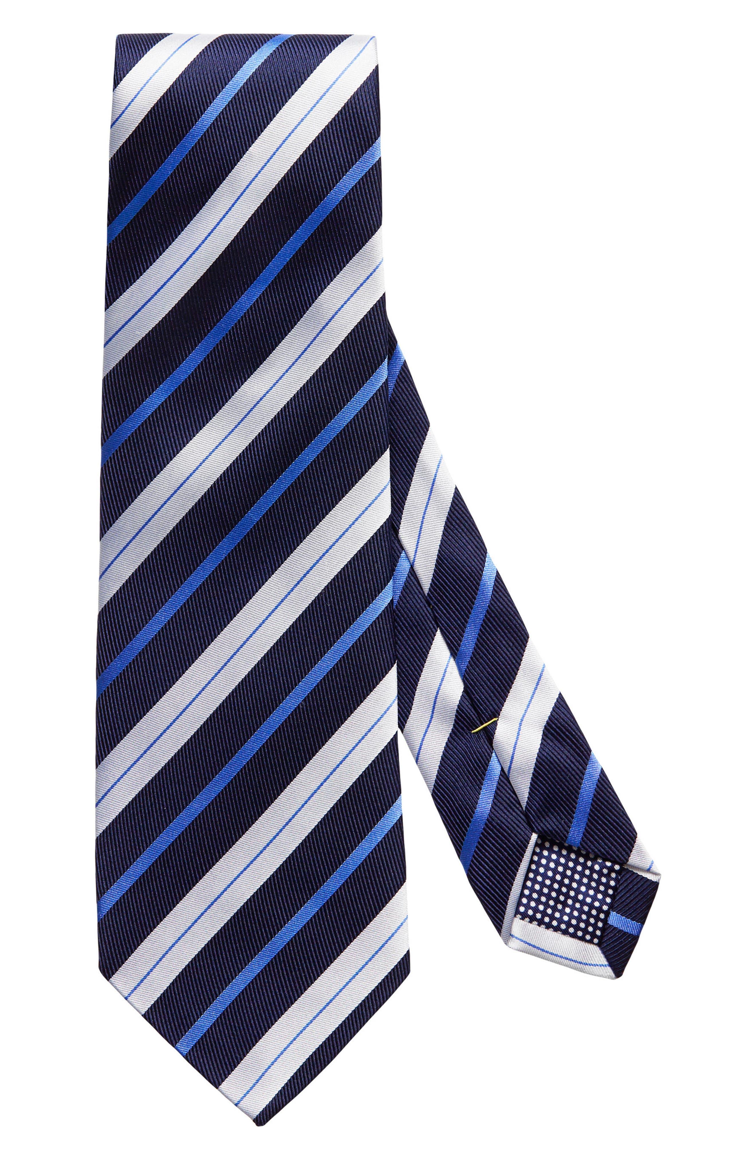 Stripe Silk Tie,                             Main thumbnail 1, color,                             400
