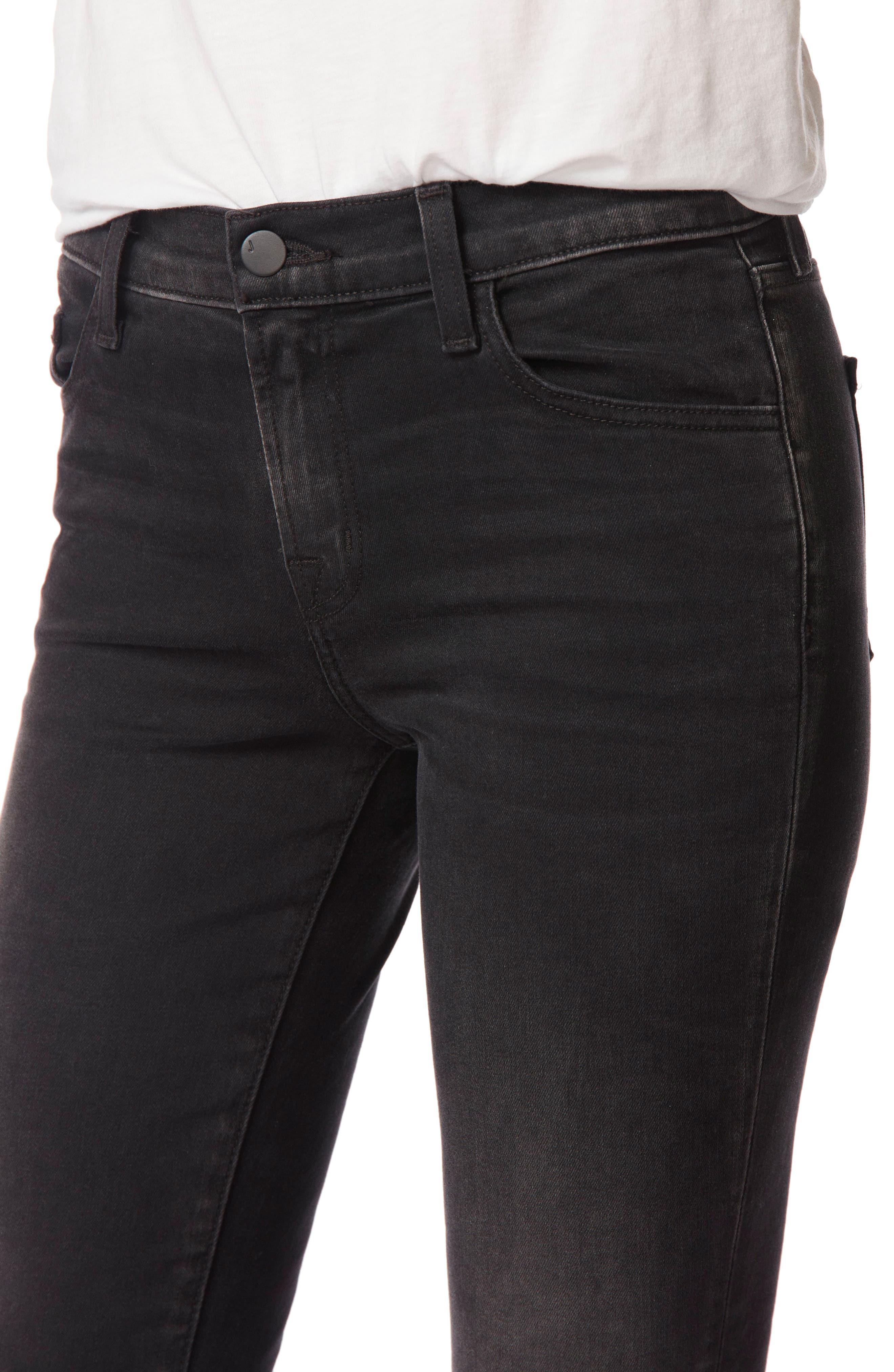 Capri Skinny Jeans,                             Alternate thumbnail 4, color,                             001